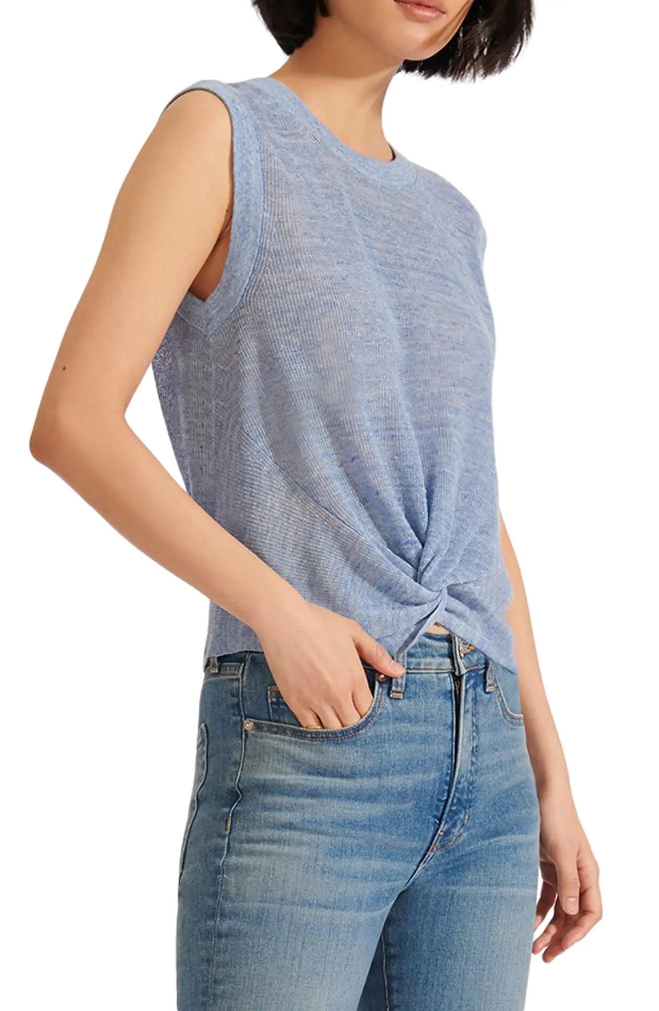 veronica beard kellen sleeveless linen blend sweater nordstrom rack