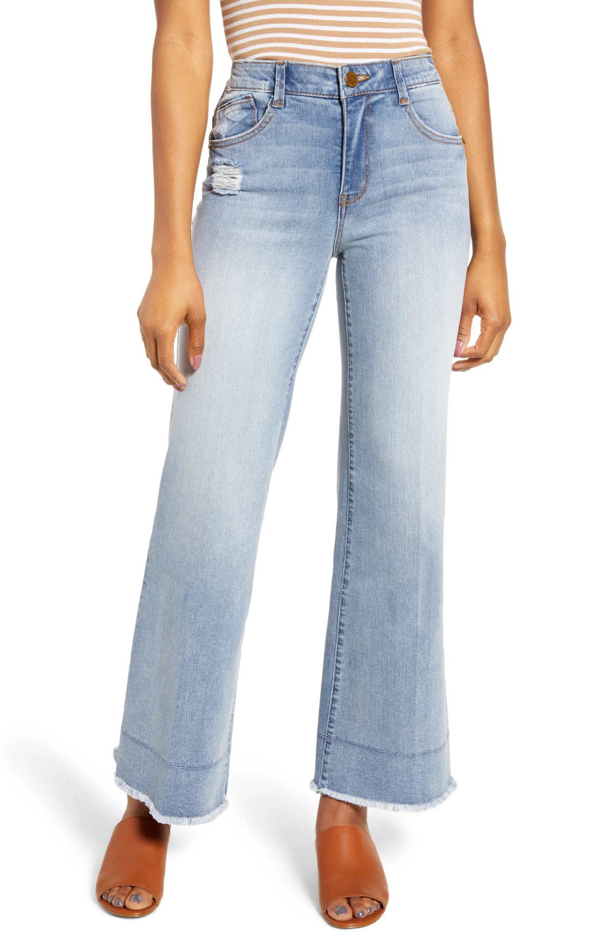 WIT & WISDOM Ab-Solution High Rise Flare Jeans, Main, color, LIGHT BLUE