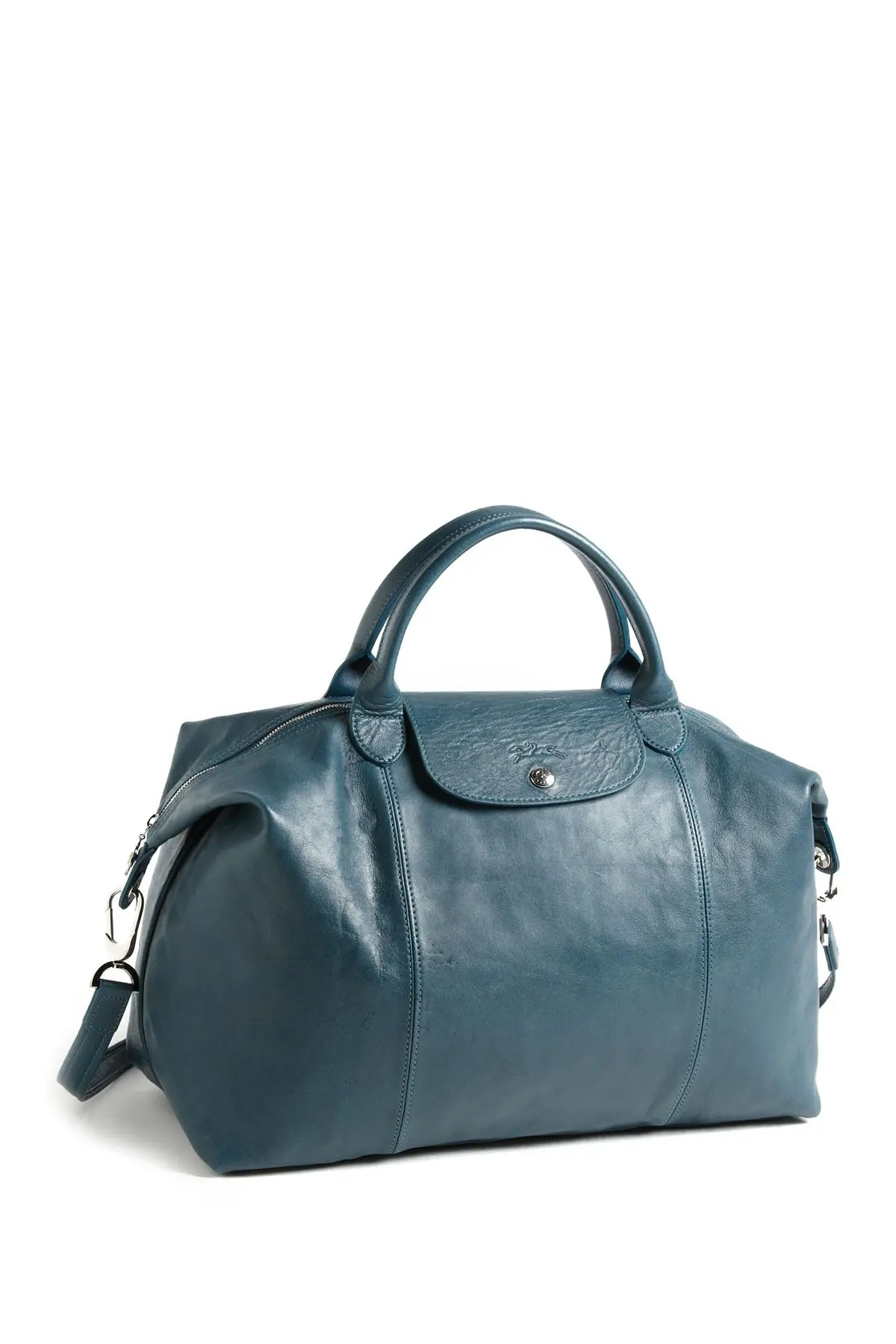 le pliage leather trimmed top handle