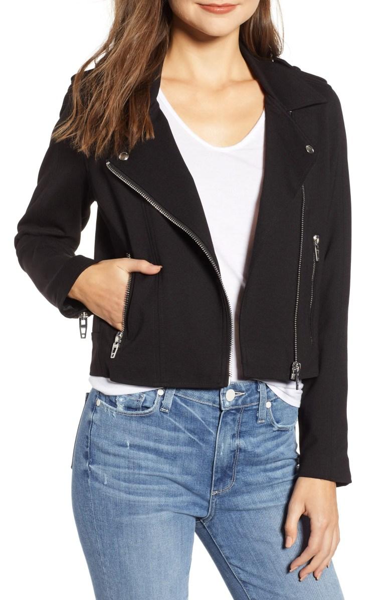 BLANKNYC Knit Moto Jacket Nordstrom