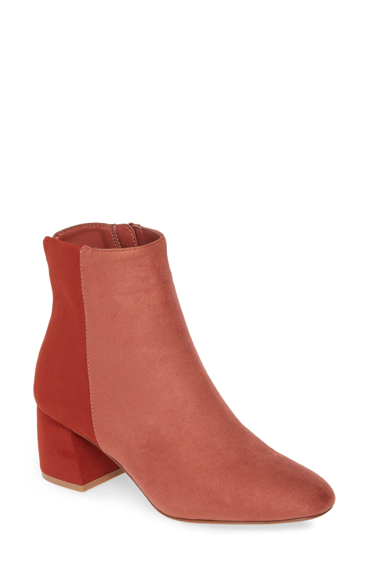 CHINESE LAUNDRY Davinna Bootie, Main, color, RHUBARB SUEDE