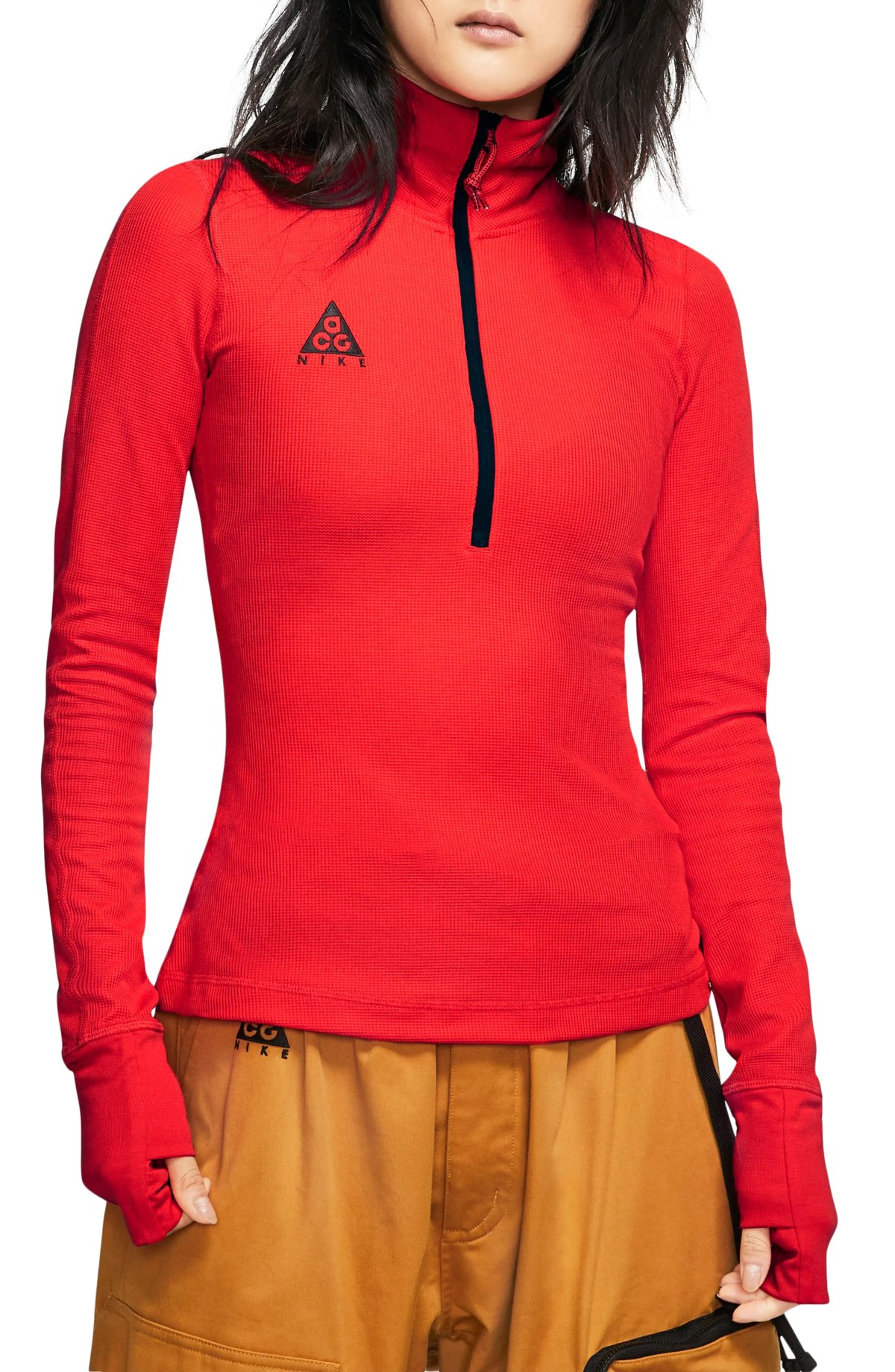 NIKE ACG Long Sleeve Thermal Top, Main, color, HABANERO RED/ BLACK