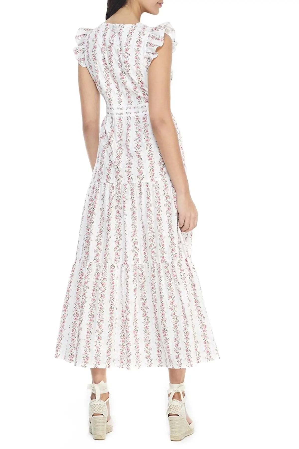 gal meets glam rosie flutter sleeve floral maxi dress nordstrom rack