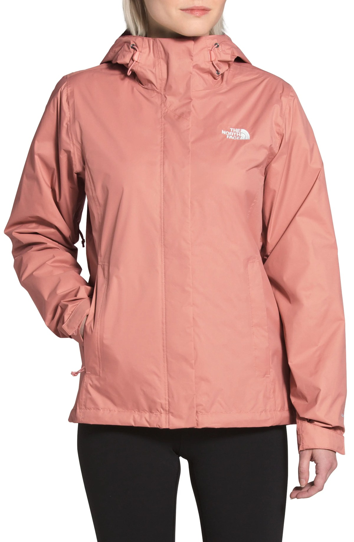 THE NORTH FACE Venture 2 Waterproof Jacket, Main, color, PINK CLAY