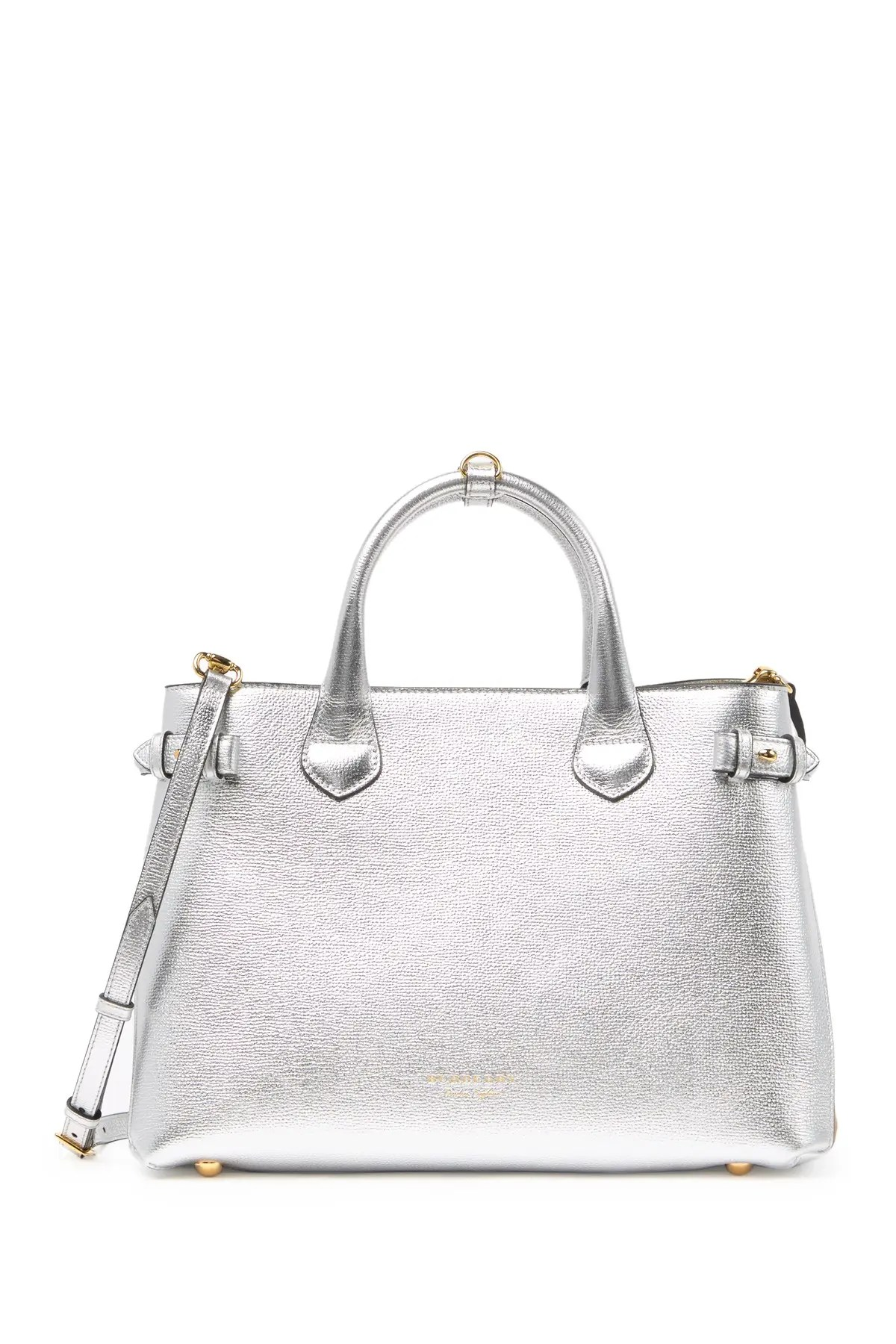 burberry banner leather tote bag