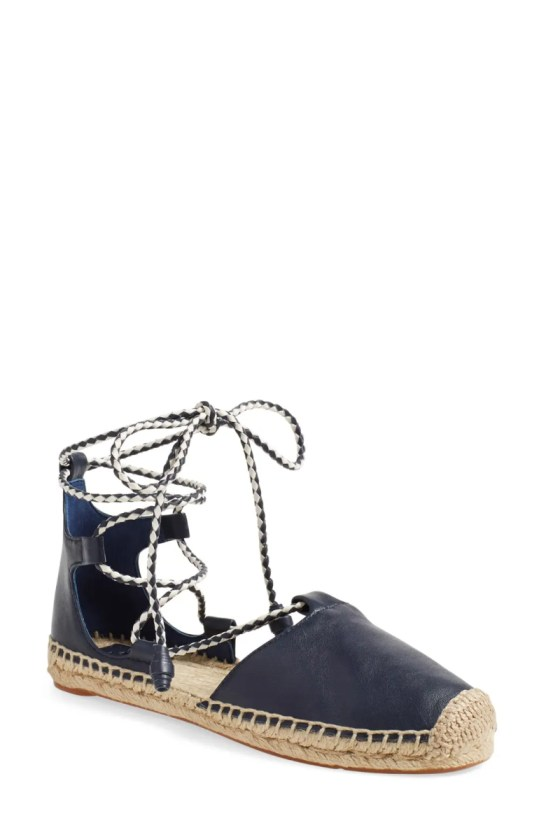 tory burch positano lace up