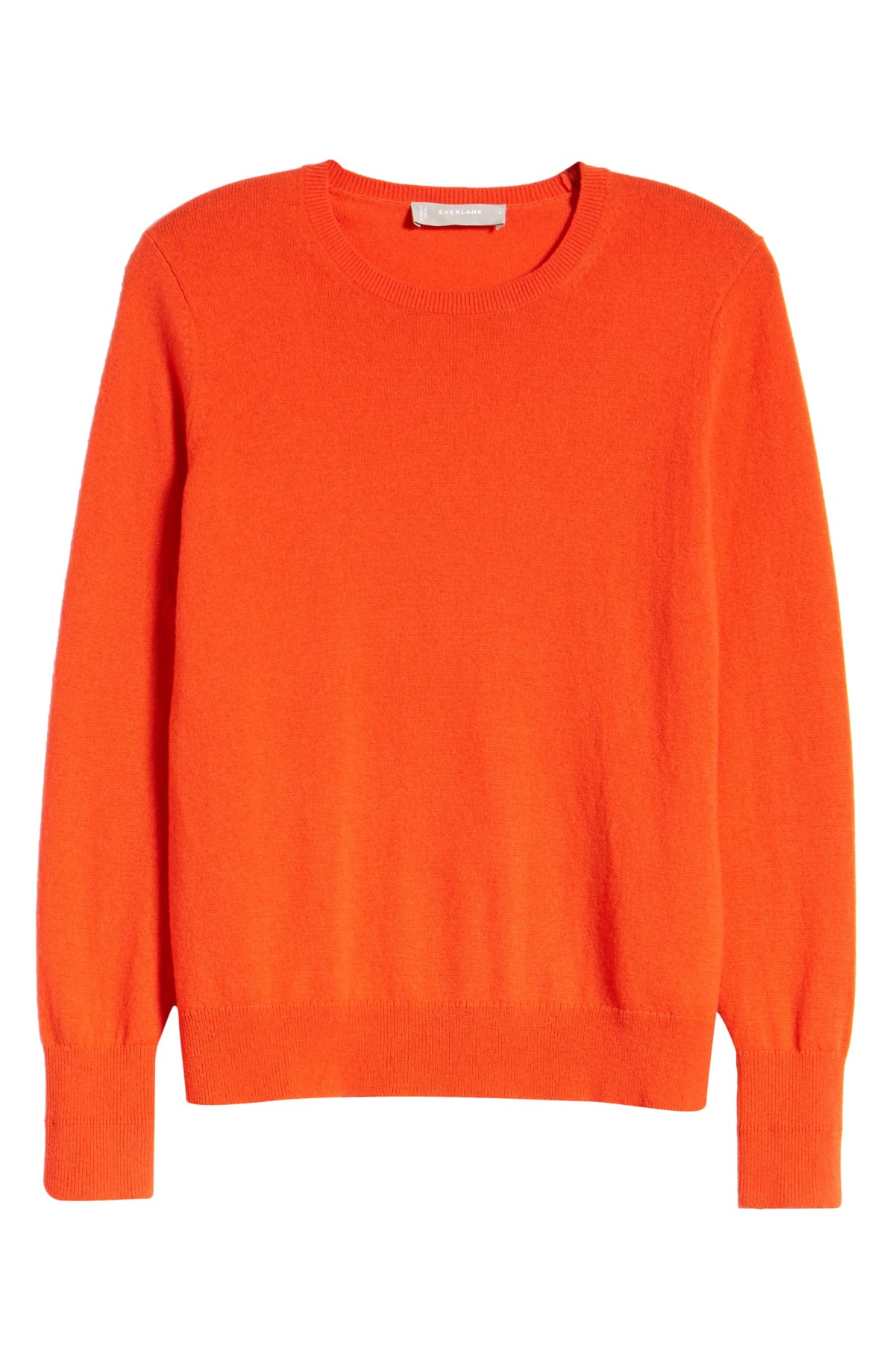 EVERLANE The Cashmere Crew Sweater, Main, color, PERSIMMON
