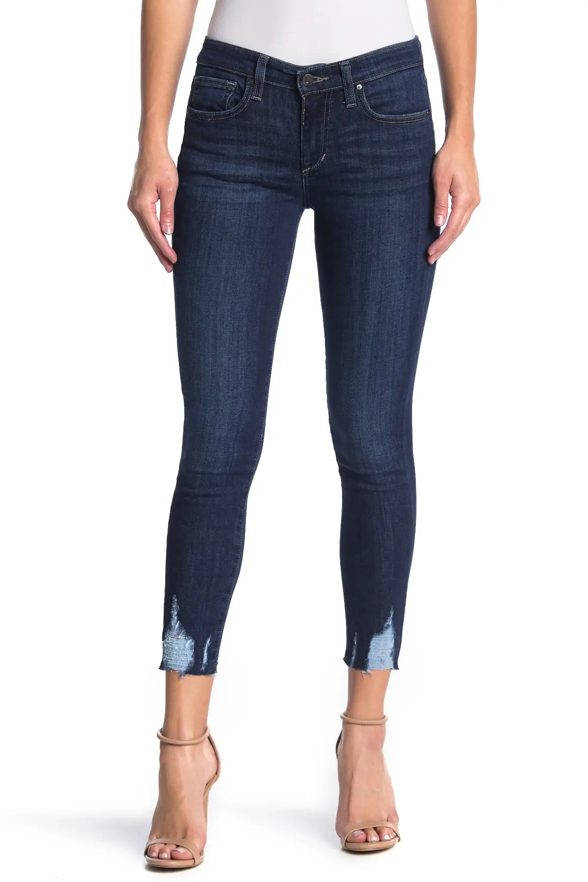joe s jeans mid rise distressed skinny cropped jeans nordstrom rack