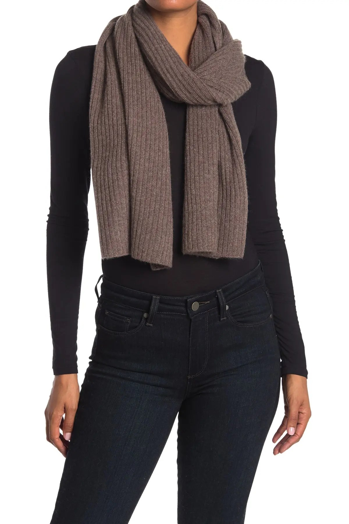 naked cashmere unisex roman ribbed cashmere scarf nordstrom rack