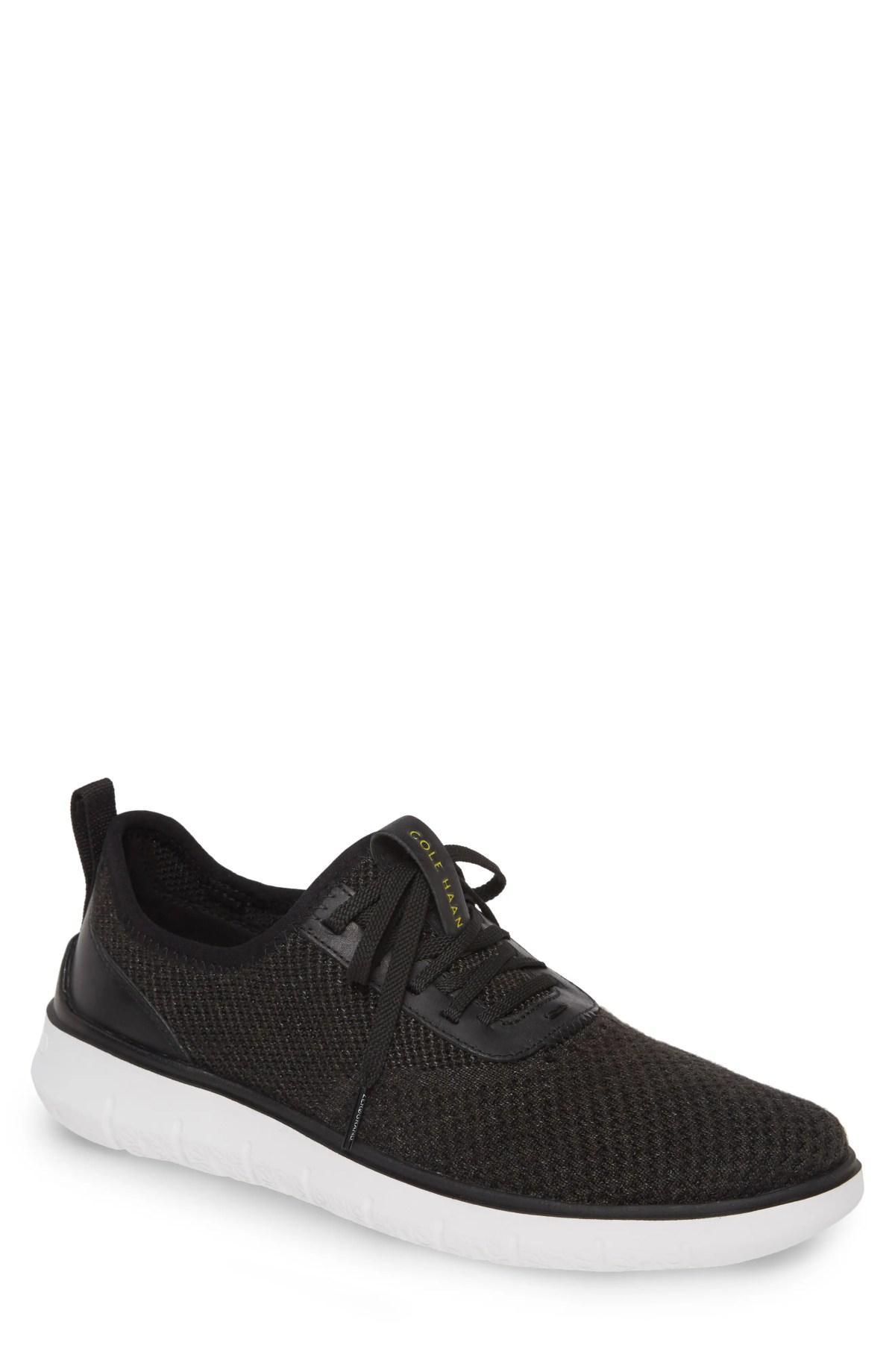 COLE HAAN Generation ZeroGrand Stitchlite Sneaker, Main, color, BLACK STITCHLITE / OPTIC WHITE