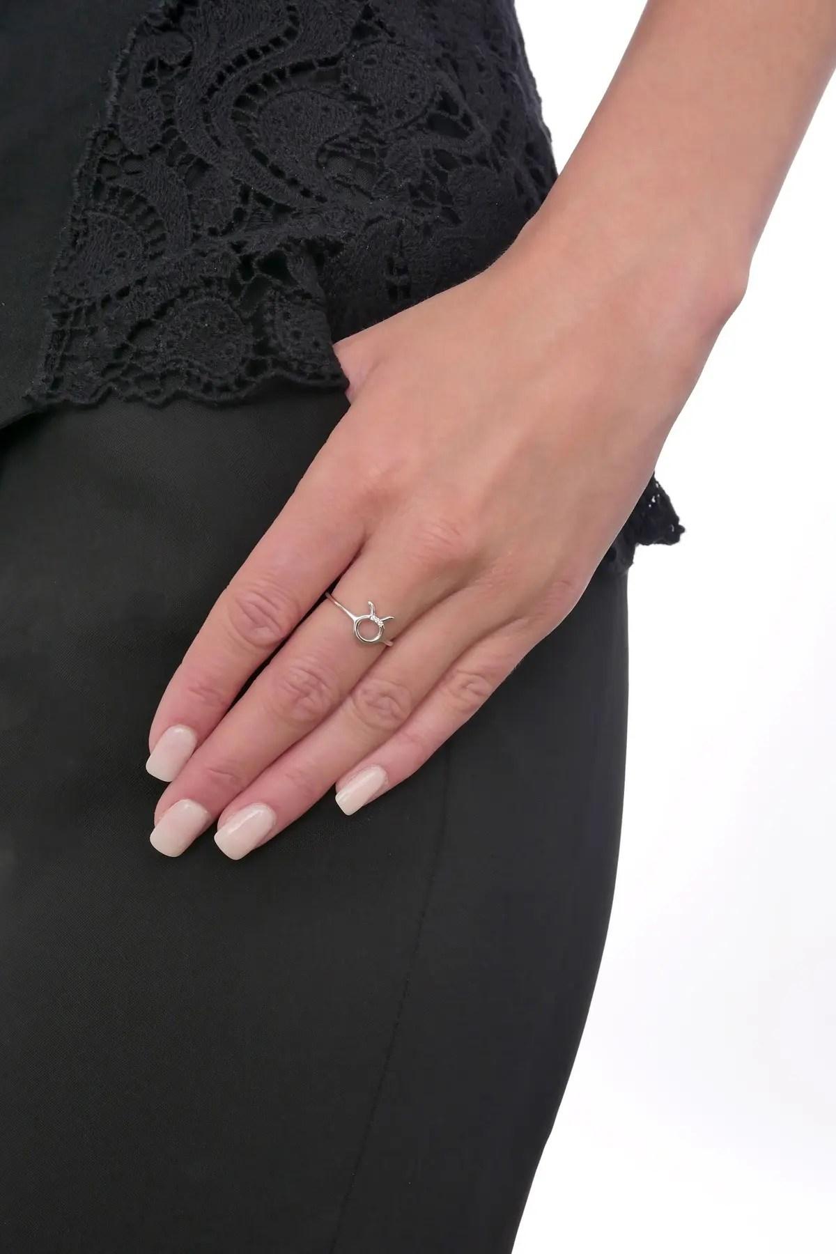 bony levy 18k white gold taurus diamond ring 0 01 ctw nordstrom rack
