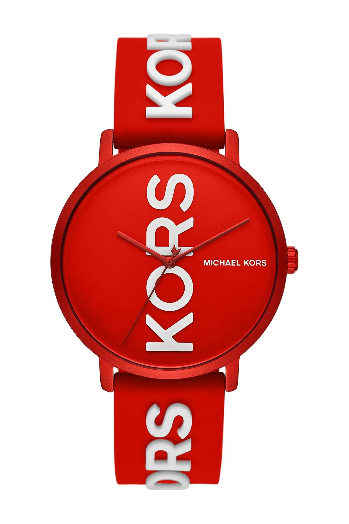 michael michael kors women s charley three hand red silicone watch 42mm nordstrom rack