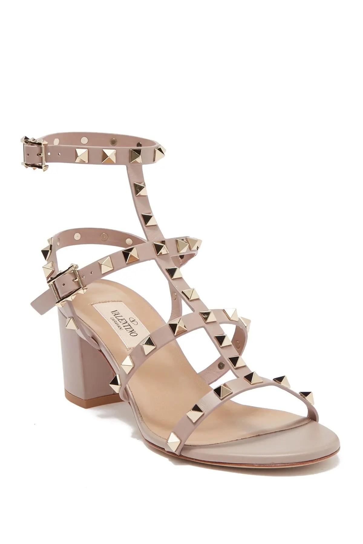 valentino rockstud caged sandal nordstrom rack