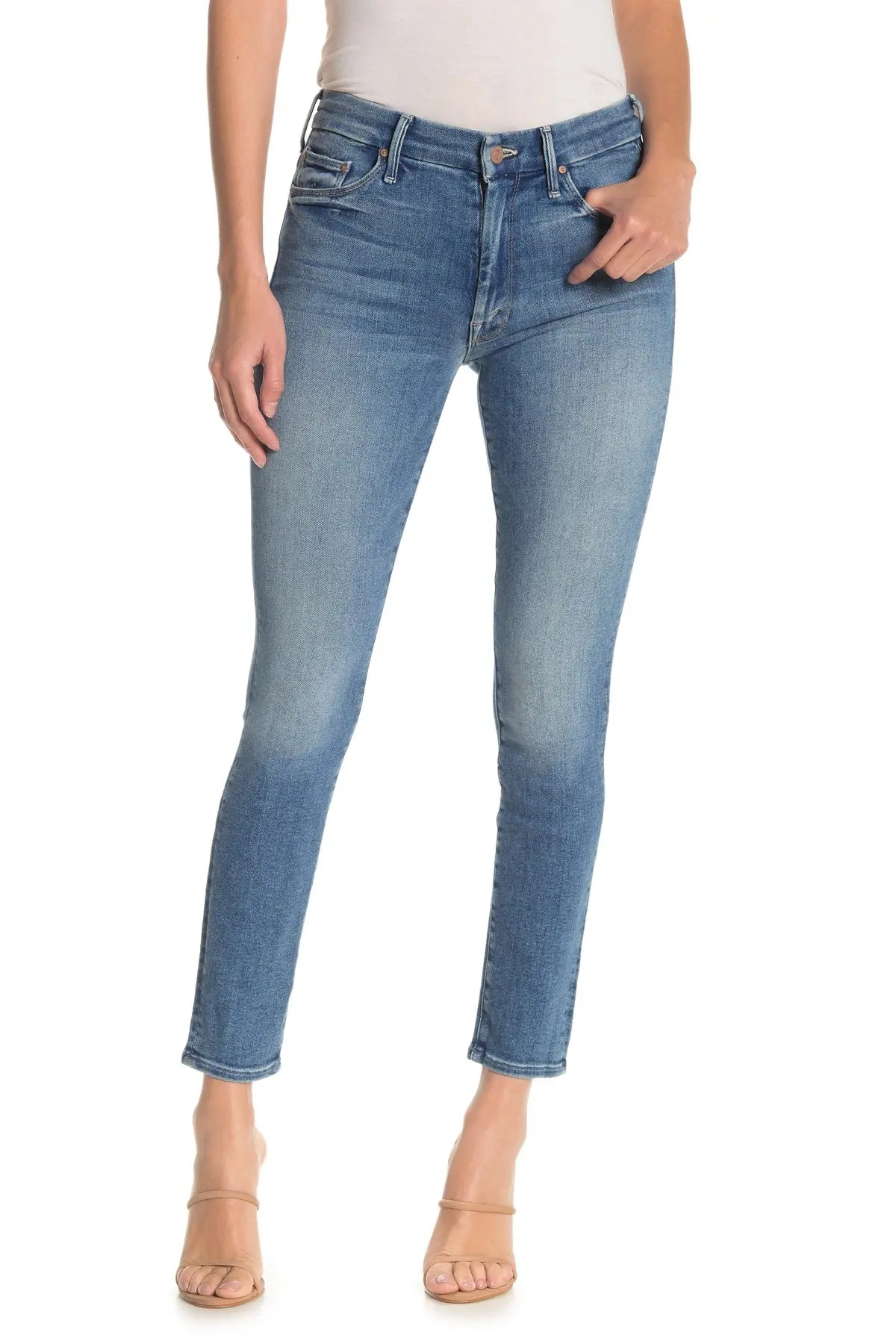 mother high waisted looker ankle jeans nordstrom rack