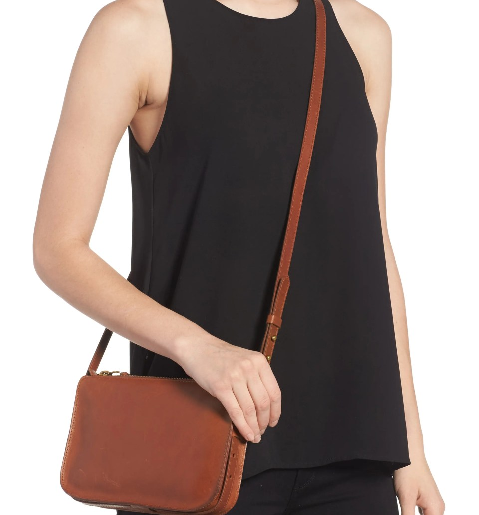 MADEWELL The Simple Leather Crossbody Bag, Alternate, color, ENGLISH SADDLE