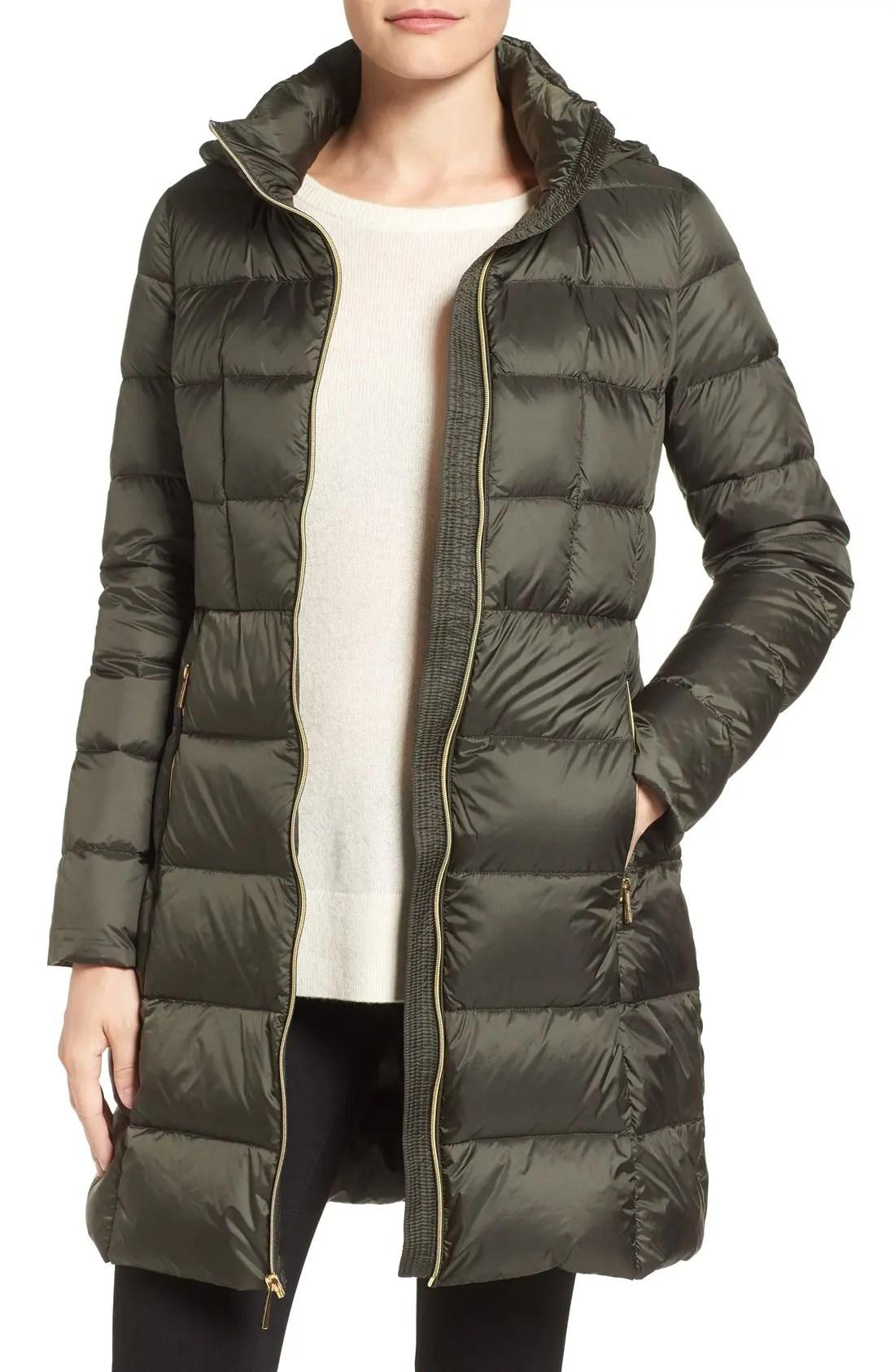 packable down coat