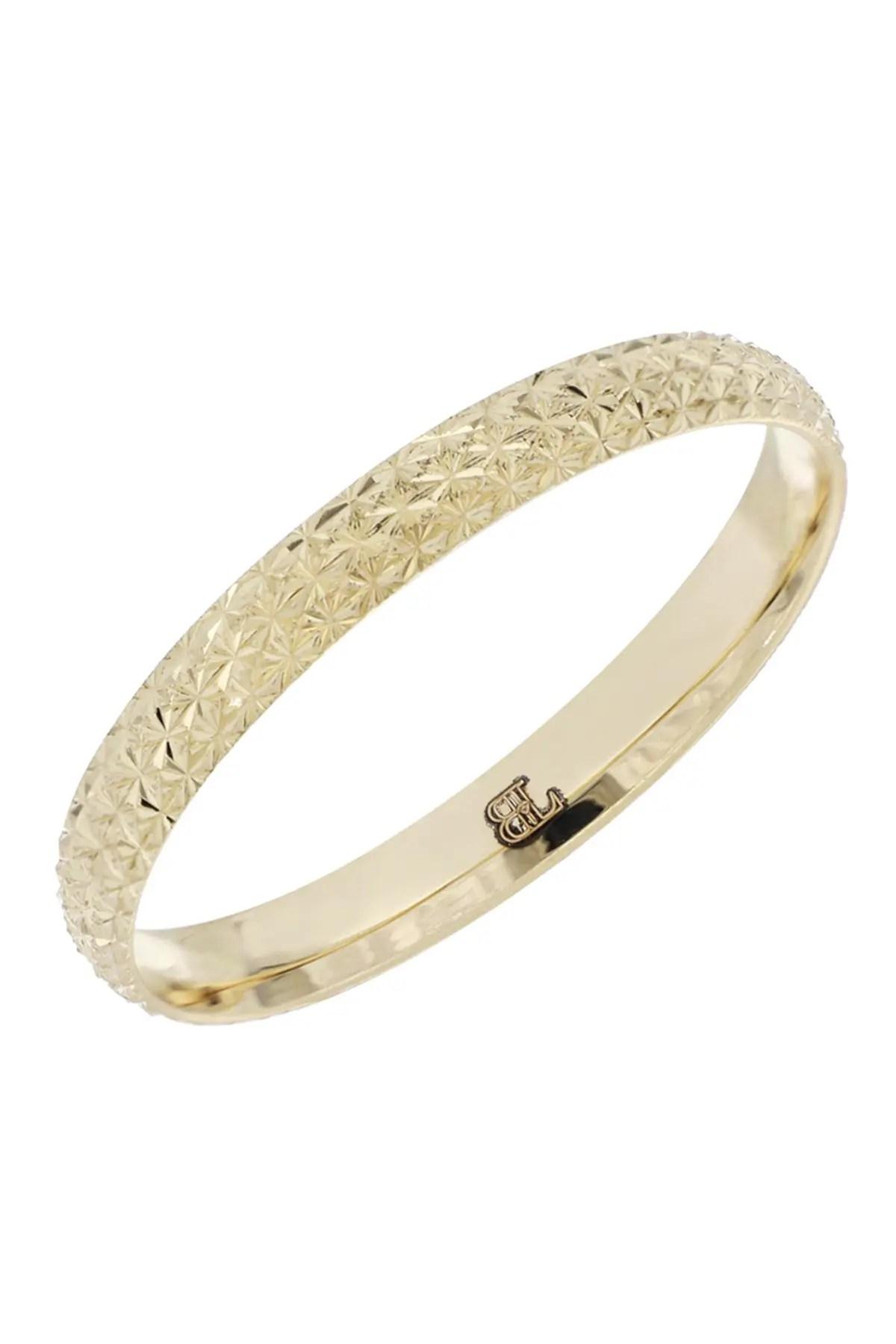 bony levy 14k yellow gold diamond cut band nordstrom rack
