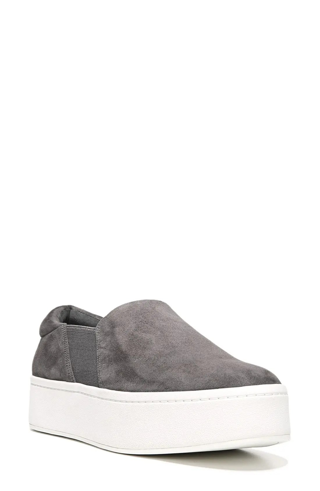 VINCE Warren Slip-On Sneaker, Main, color, STEEL SUEDE