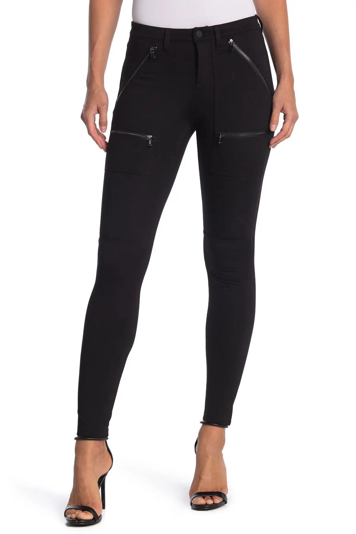 blanknyc denim solid ponte zip pocket skinny pants nordstrom rack