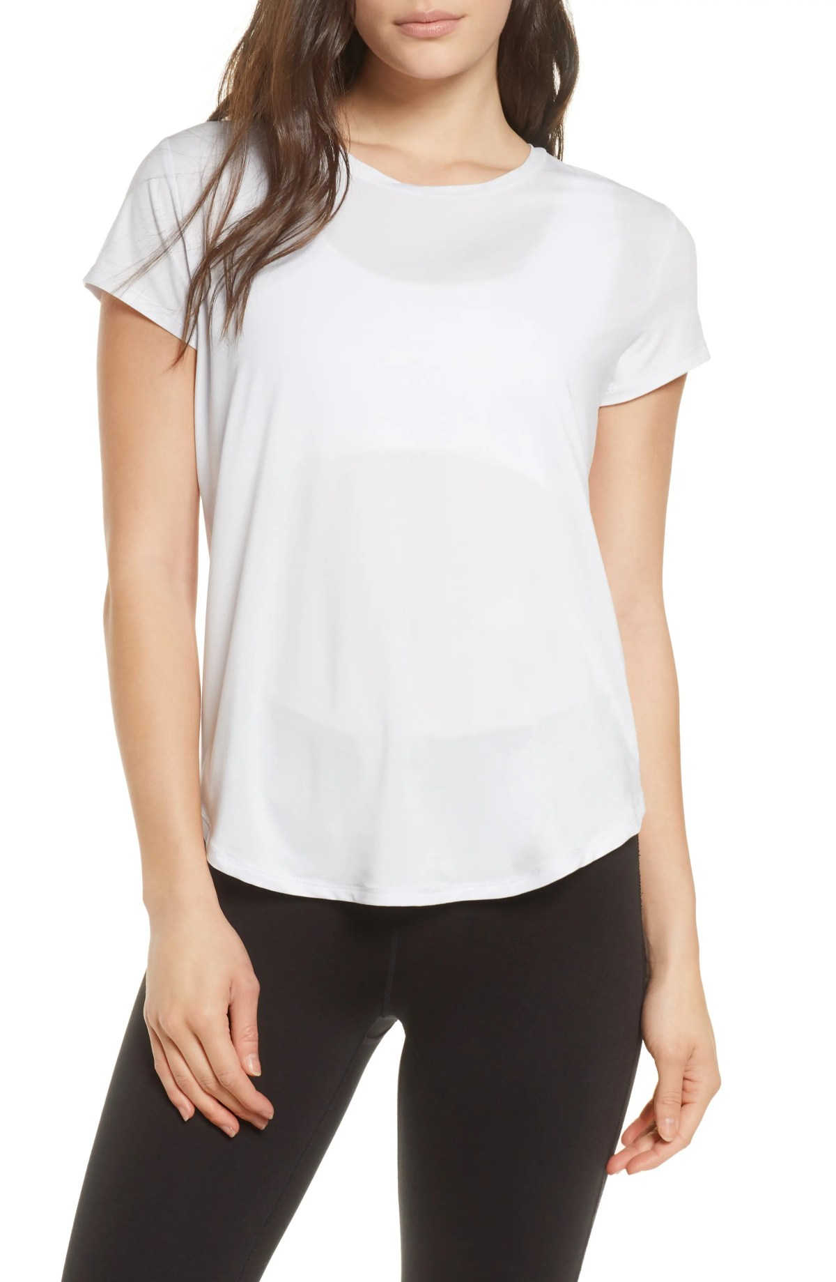 ZELLA Strength Performance T-Shirt, Main, color, PURPLE HINT