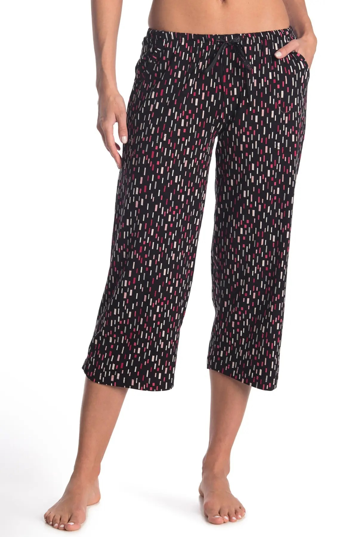 hue geometric print capri pajama pants nordstrom rack