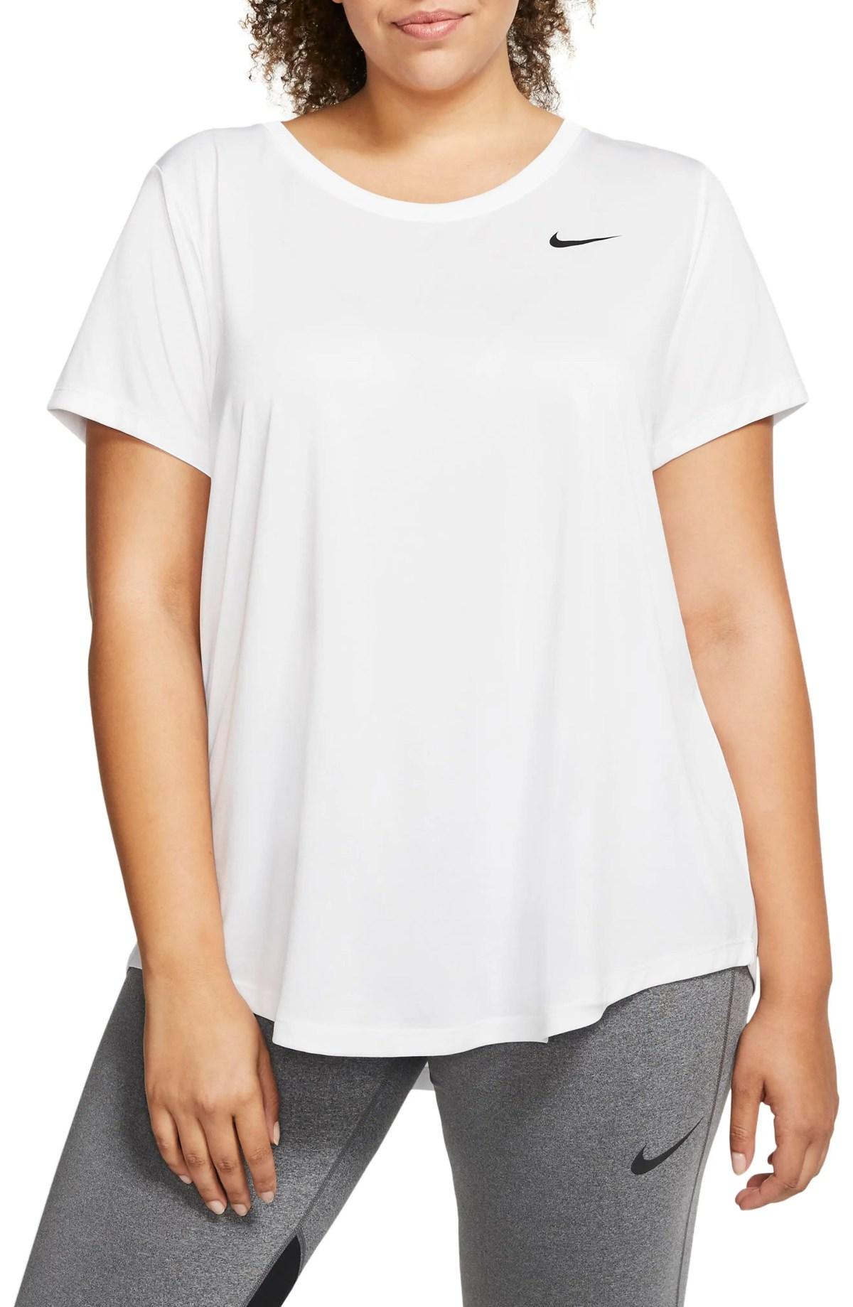 NIKE Dri-FIT Legend T-Shirt, Main, color, WHITE/BLACK