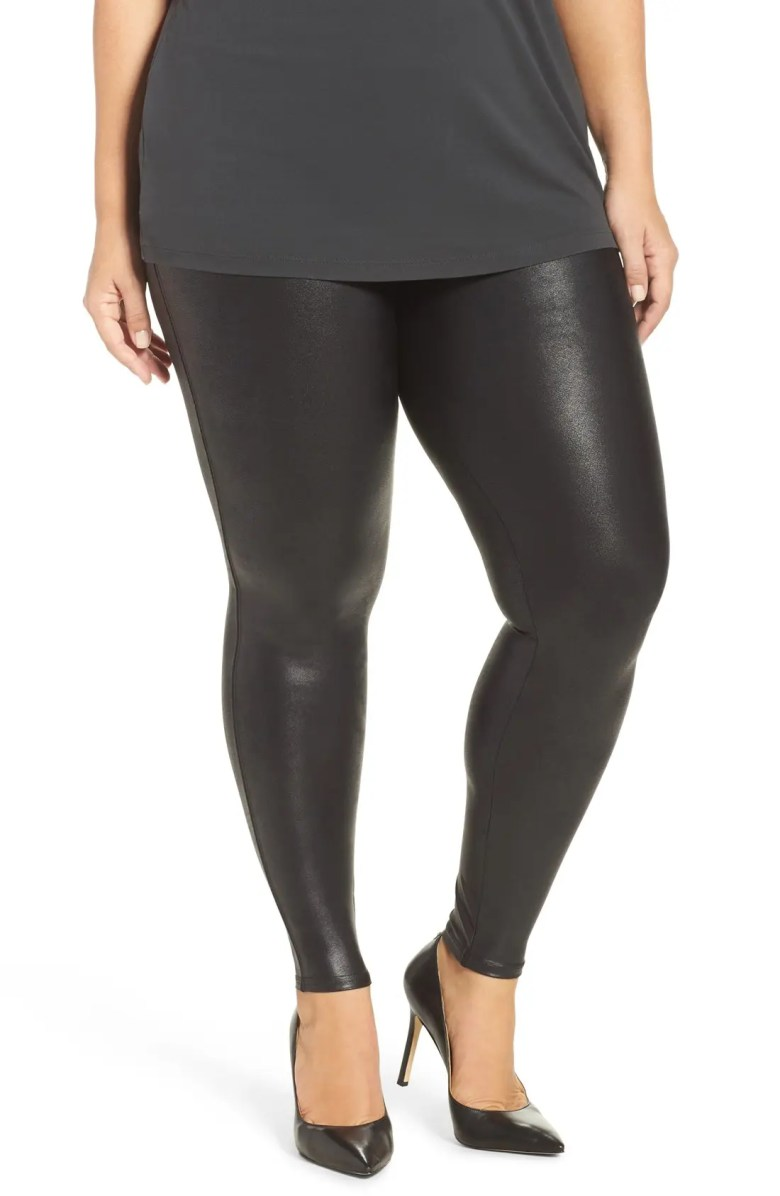 SPANX Faux Leather Leggings Plus Size Nordstrom