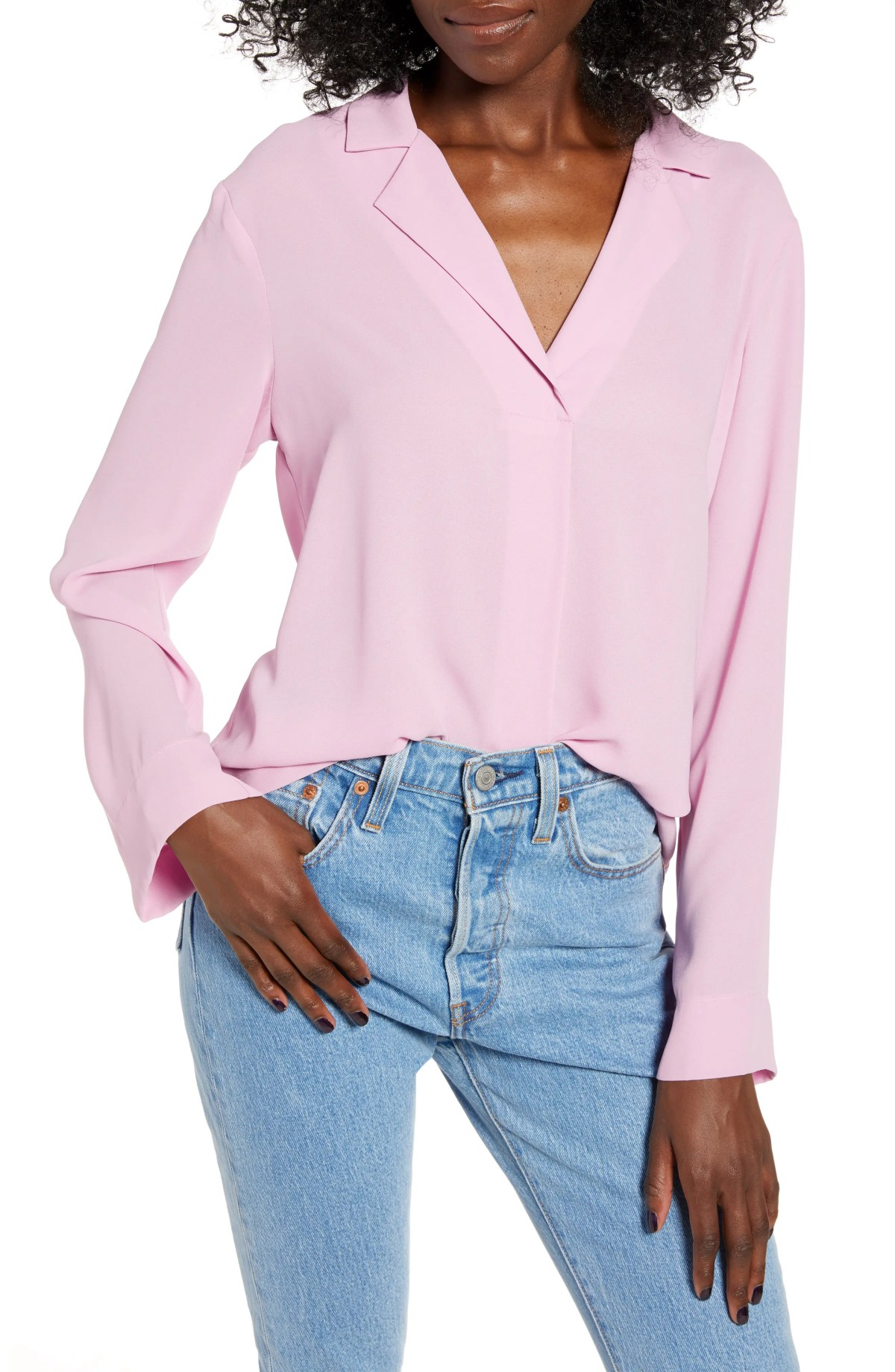 ALL IN FAVOR Harper Long Sleeve Top, Main, color, MAUVE MIST