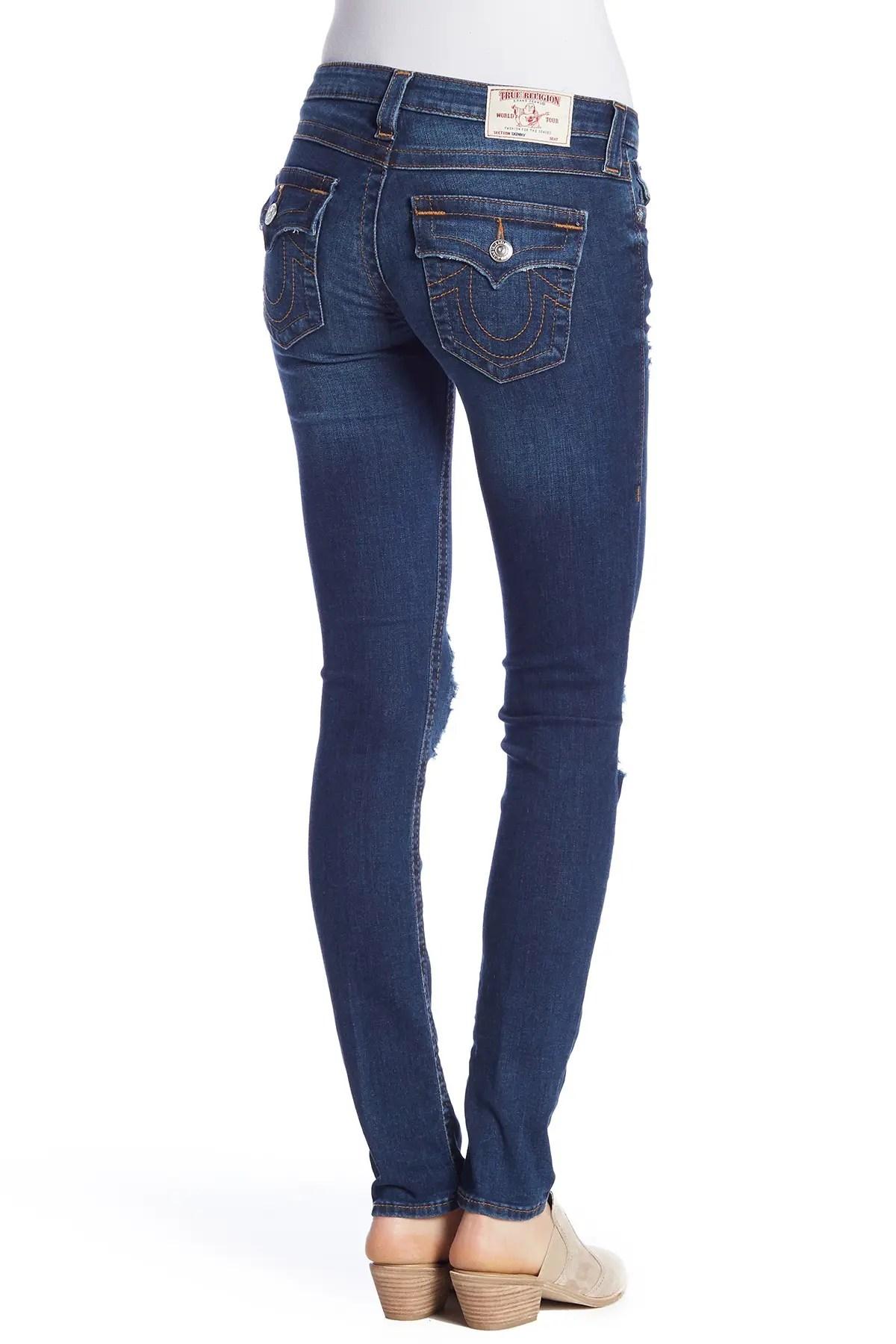 true religion flap pocket destroyed skinny jeans nordstrom rack