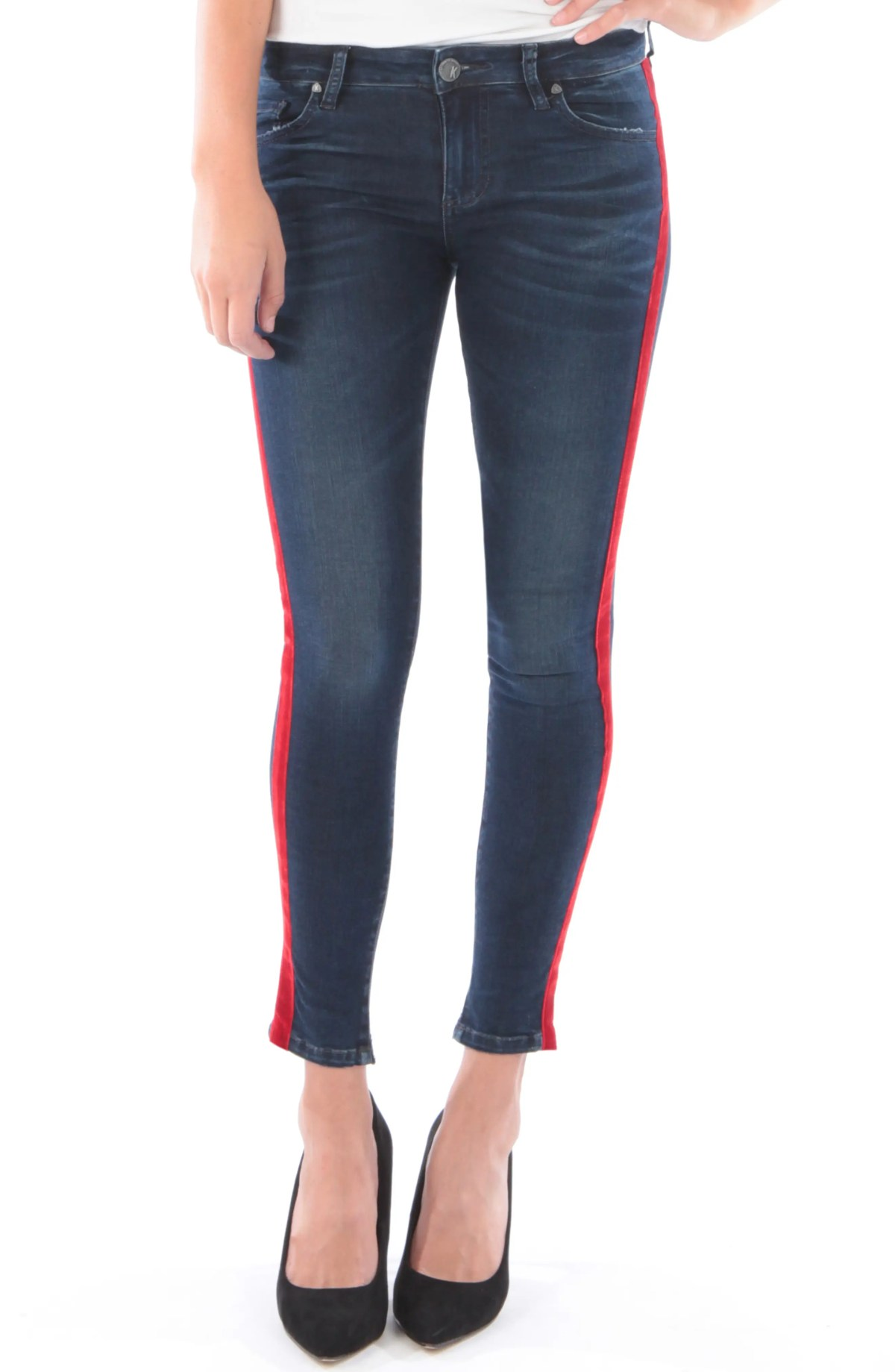 KUT FROM THE KLOTH Connie Side Stripe Ankle Skinny Jeans, Main, color, NEIGHBOR