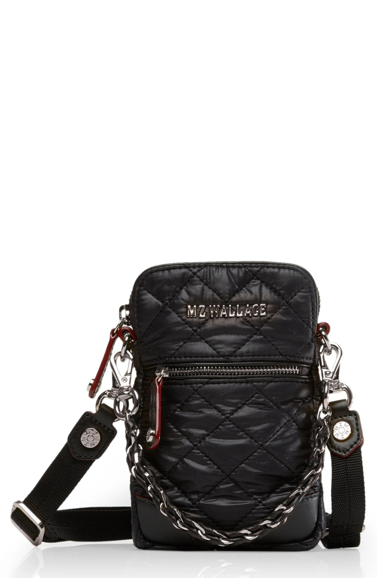 MZ WALLACE Micro Crosby Bag, Main, color, BLACK