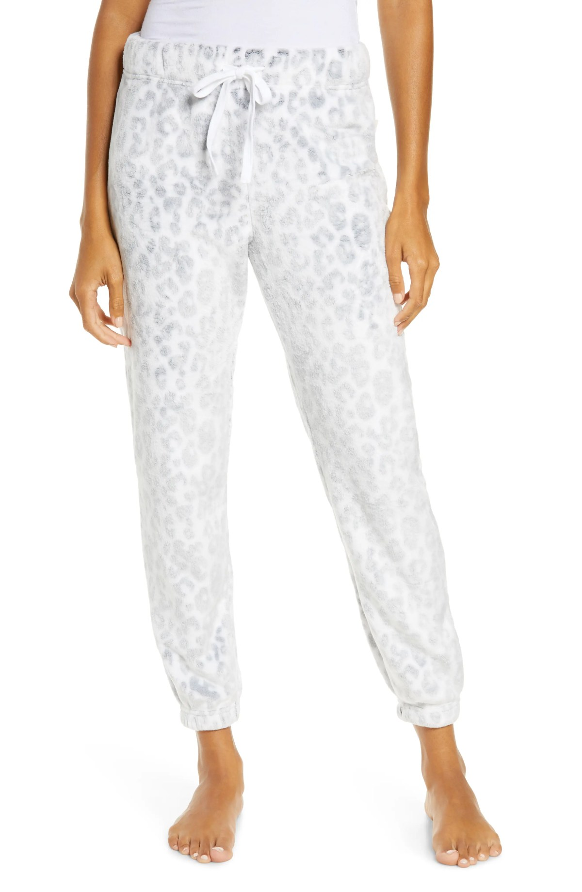 UGG<SUP>®</SUP> Betsey Fleece Joggers, Main, color, WHITE LEOPARD