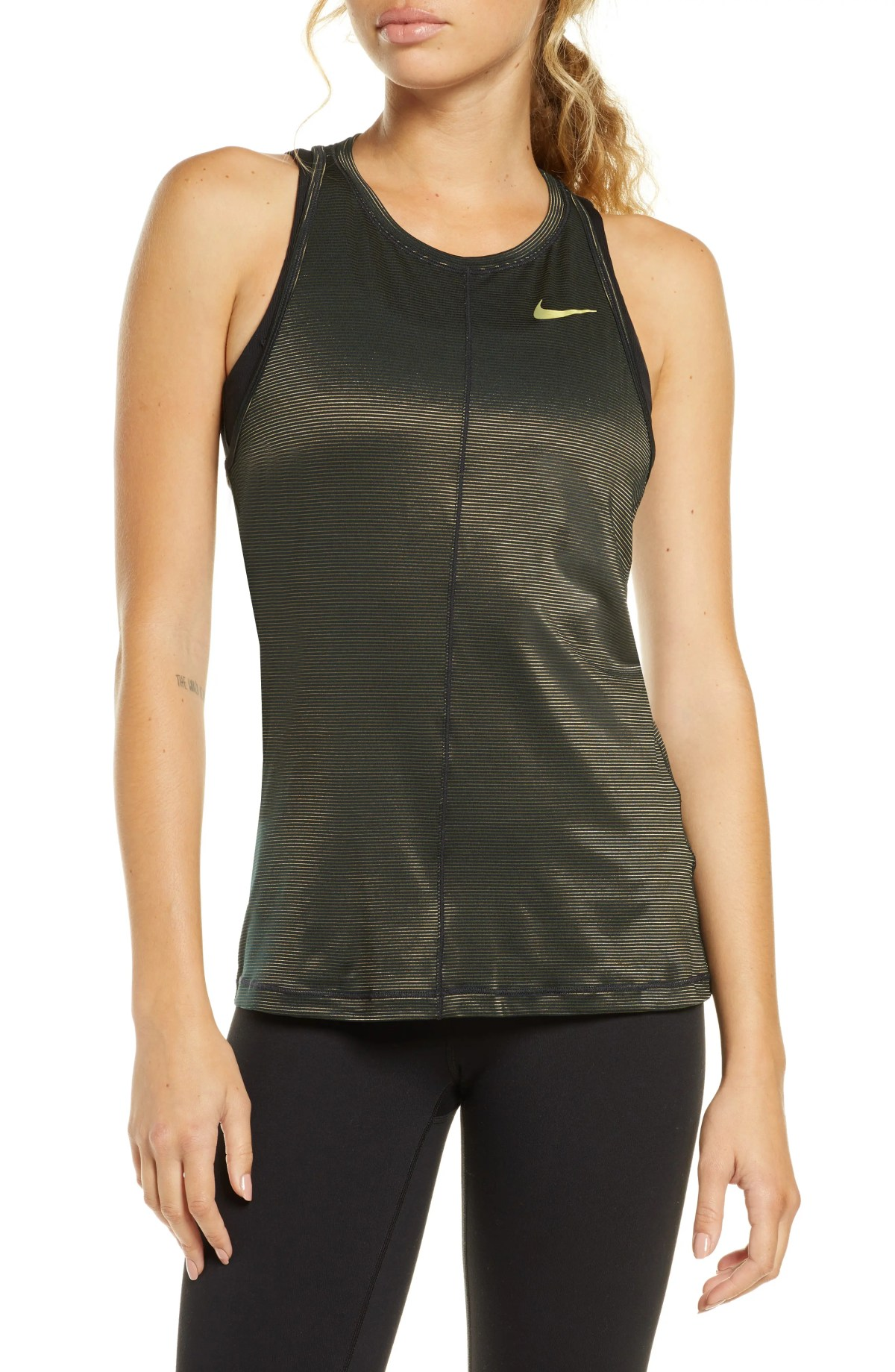 NIKE Dry Miler Tank, Main, color, REFLECT SILV/BLK/MET SILV