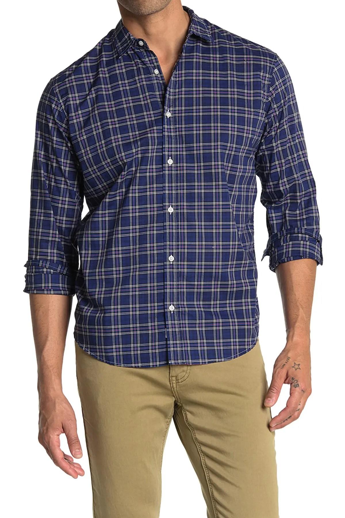 paul plaid classic fit shirt