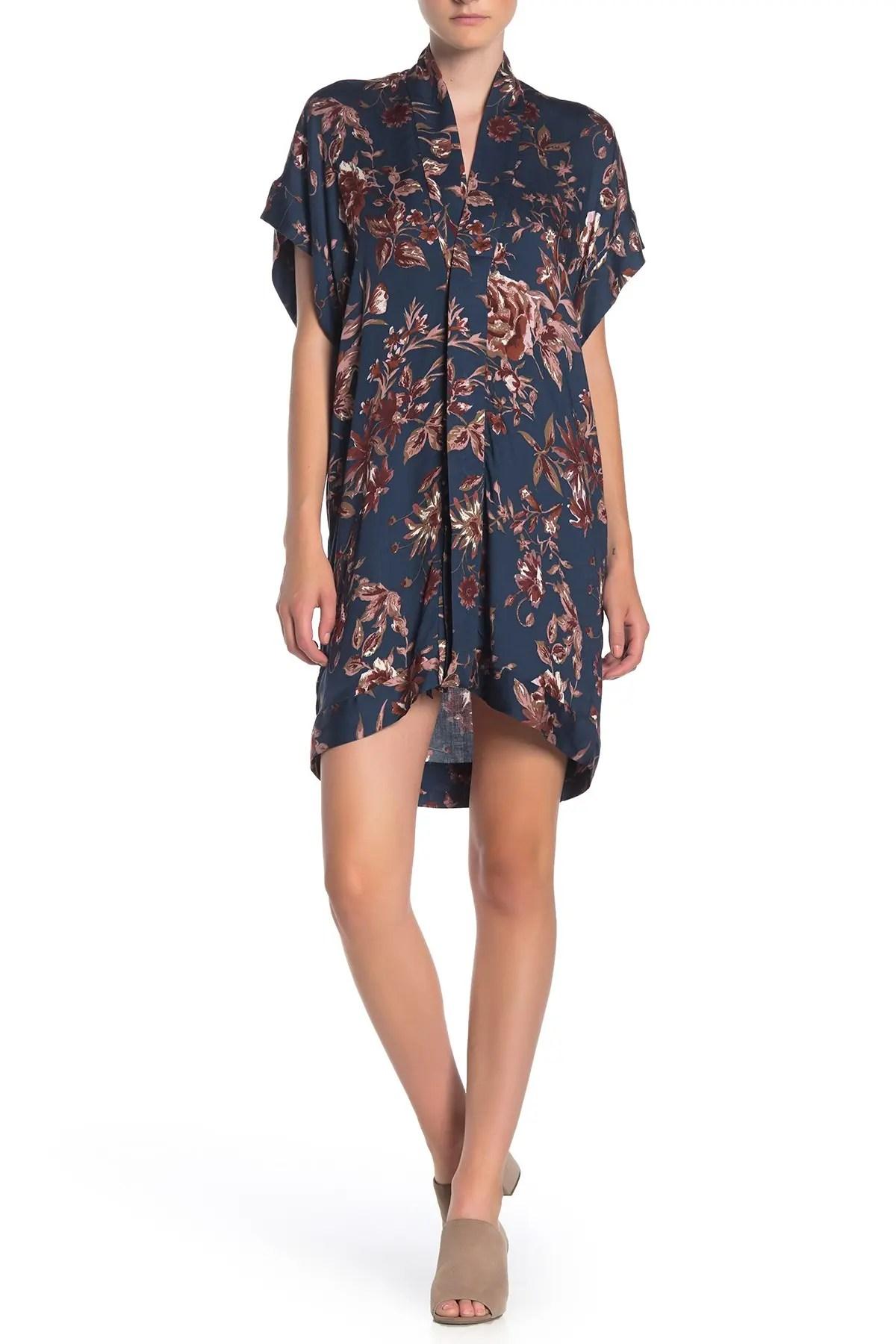 dress forum floral kimono sleeve shift dress nordstrom rack