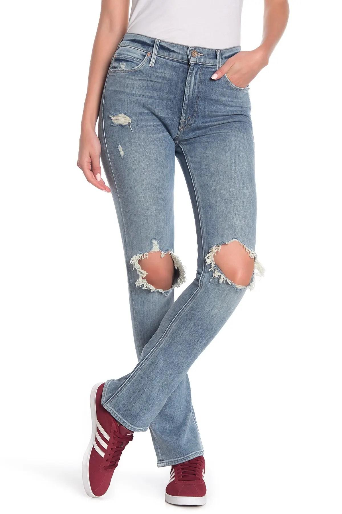 mother the runaway weekend flare jeans nordstrom rack