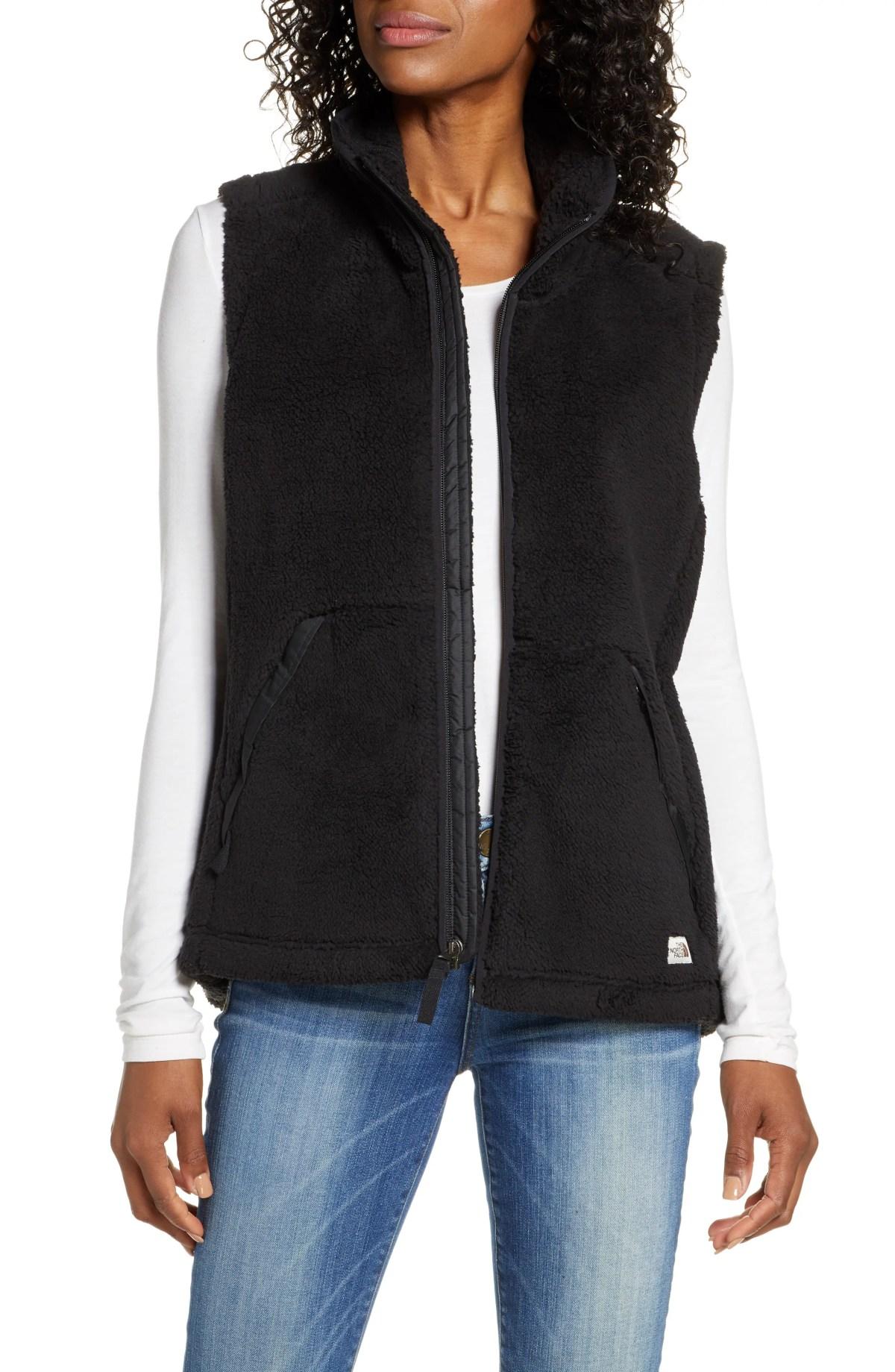 THE NORTH FACE Campshire 2.0 Fleece Vest, Main, color, TNF BLACK