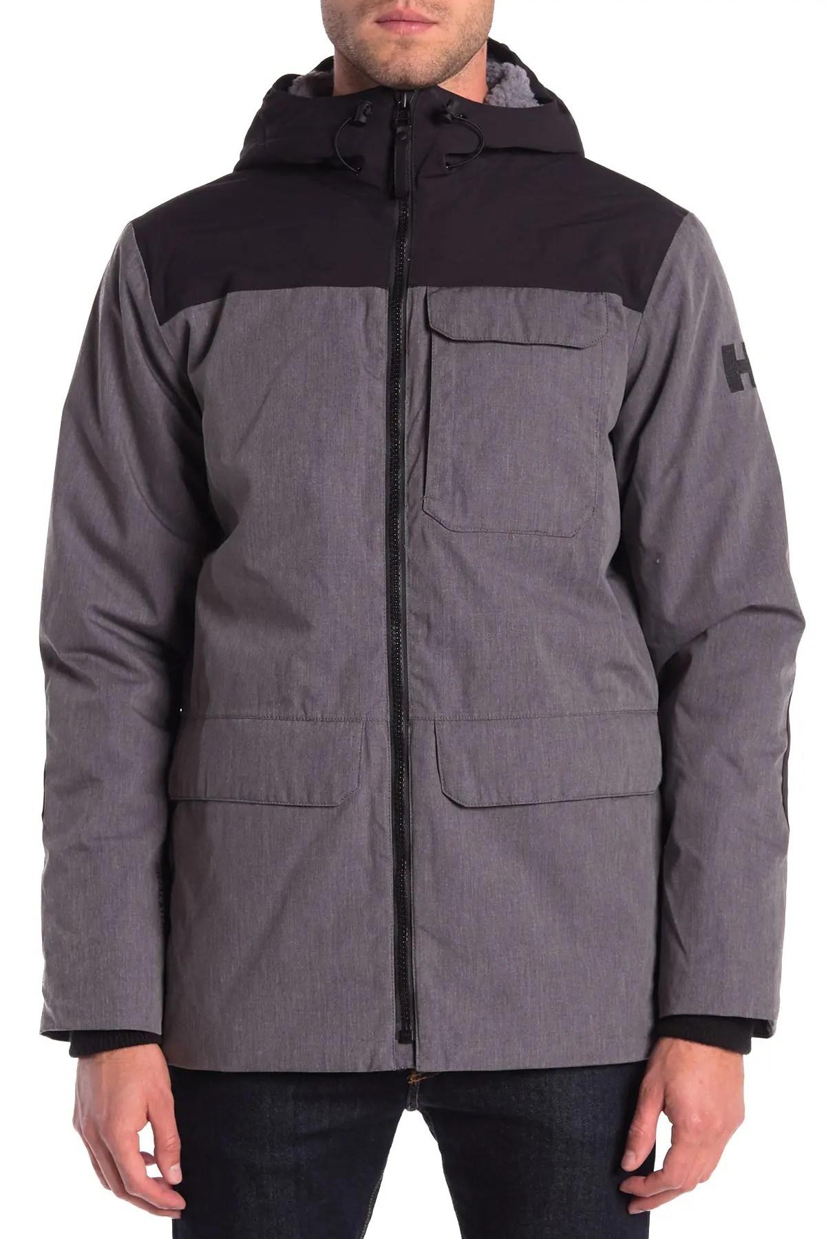 helly hansen hudson faux shearling hooded parka jacket nordstrom rack