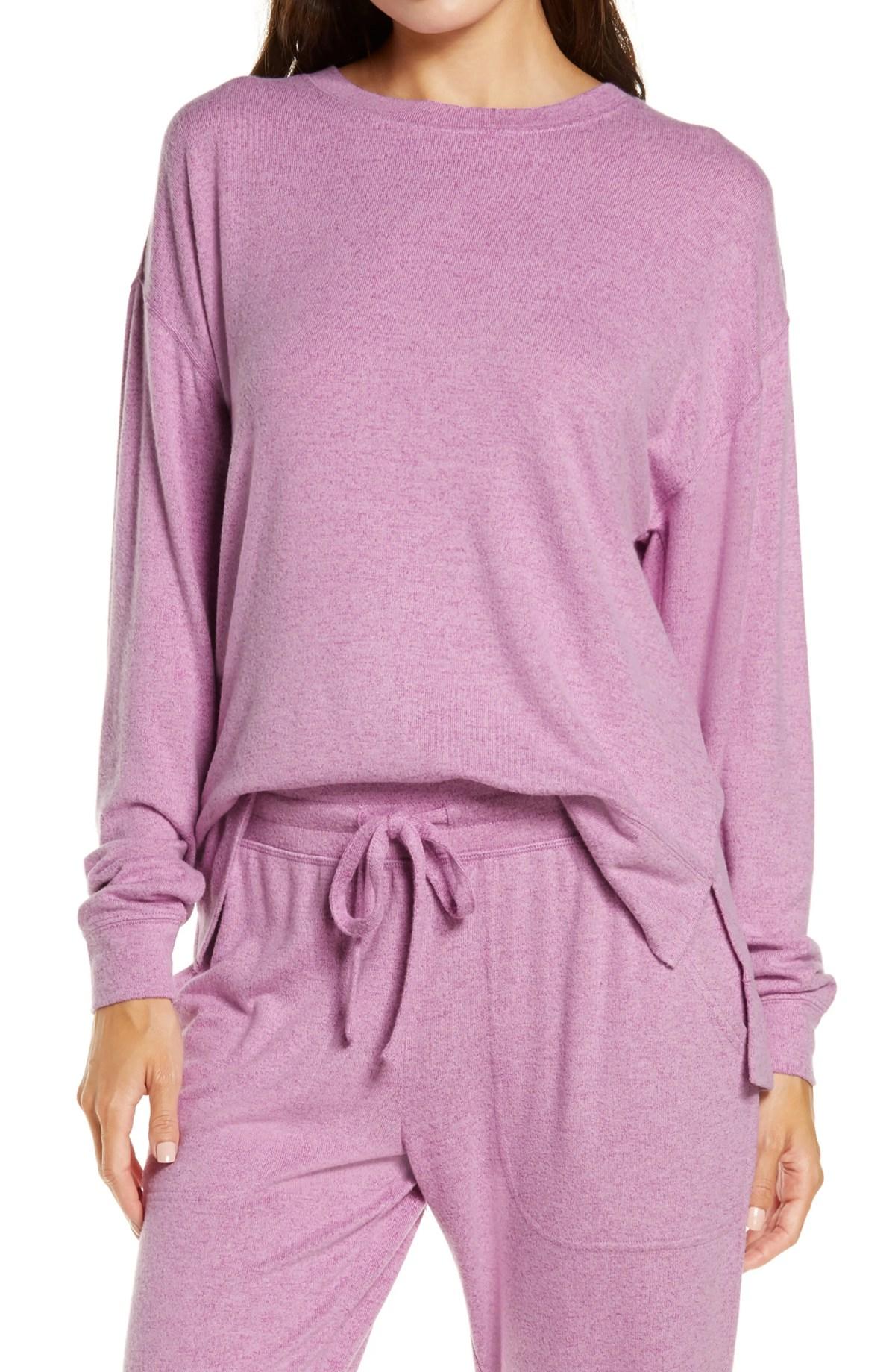 BP. Cozy Top, Main, color, PURPLE GUST/PINK LAVENDAR MARL