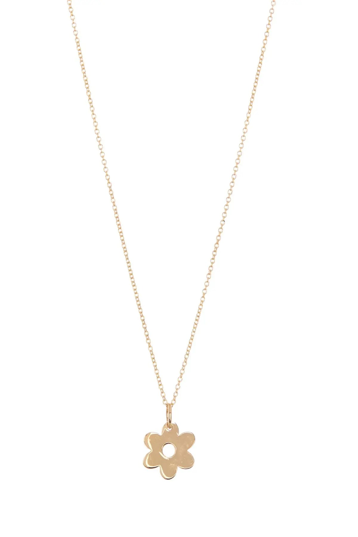 bony levy 14k yellow gold flower pendant necklace nordstrom rack