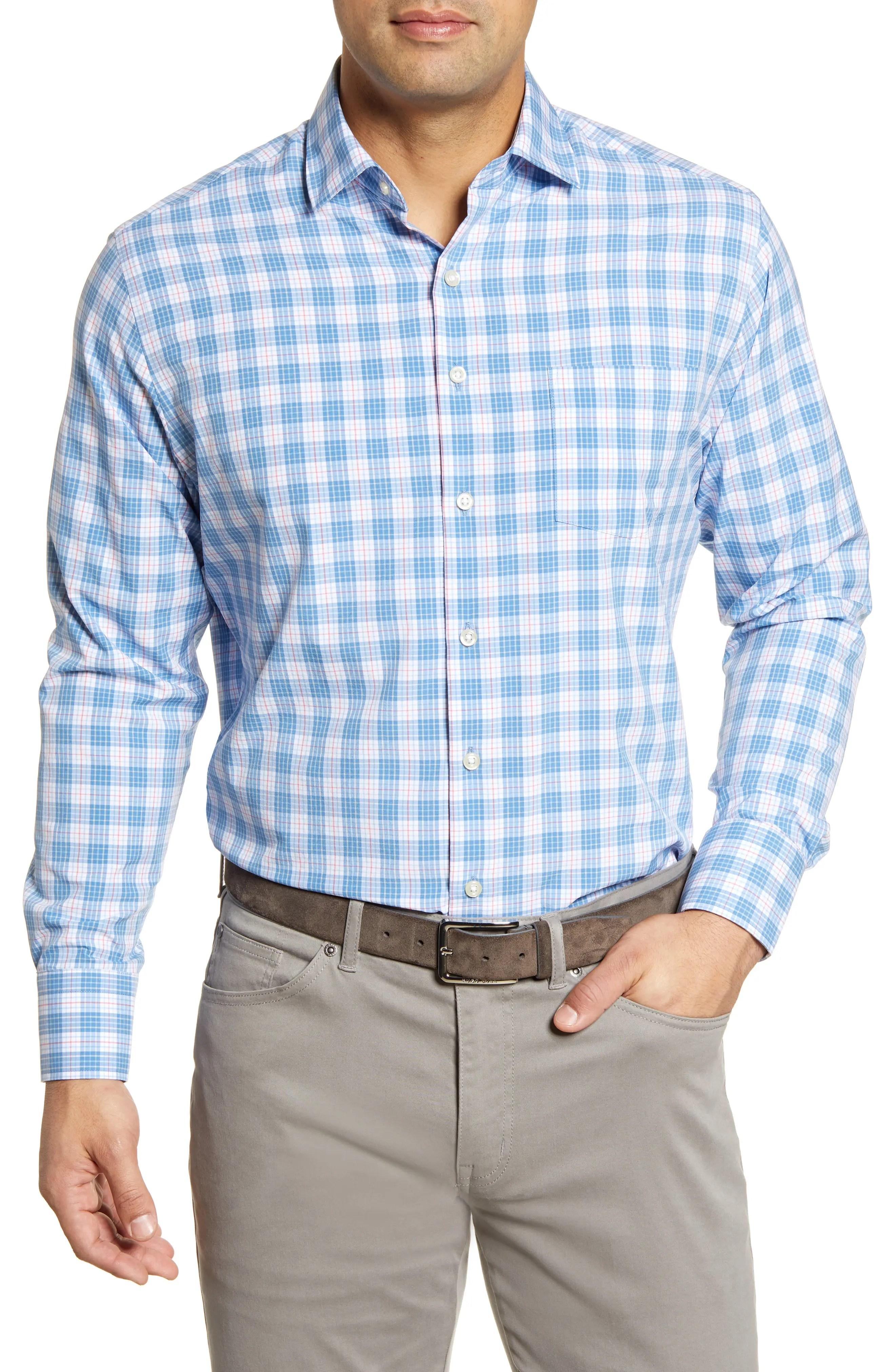 peter millar plaid regular fit sport shirt nordstrom rack