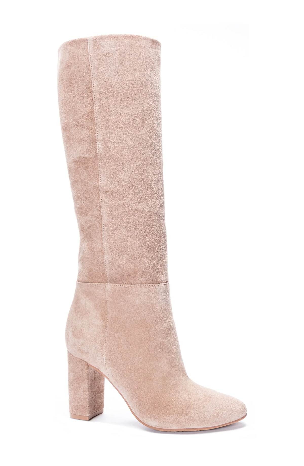 CHINESE LAUNDRY Krafty Knee High Boot, Main, color, MARS TAUPE SUEDE