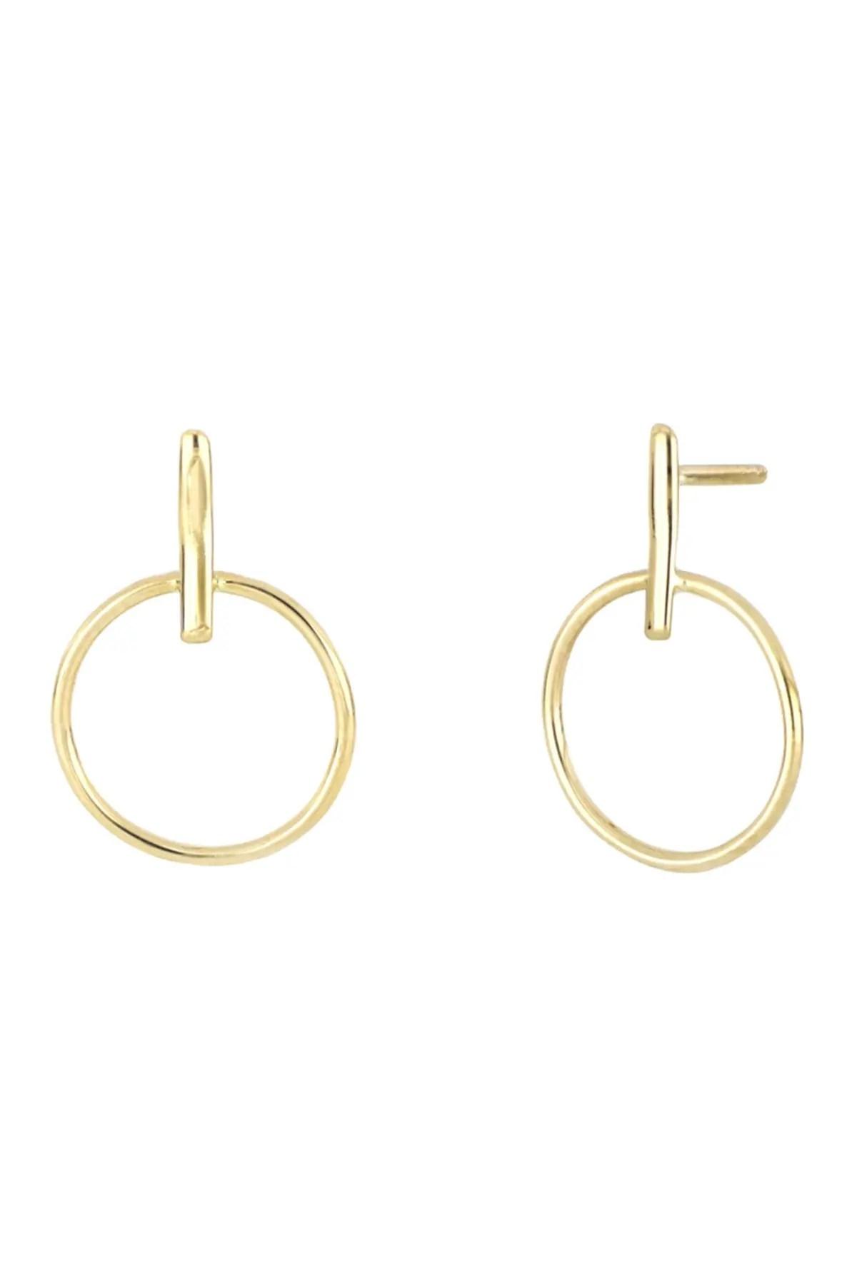 bony levy 14k yellow gold door knocker stud earrings nordstrom rack