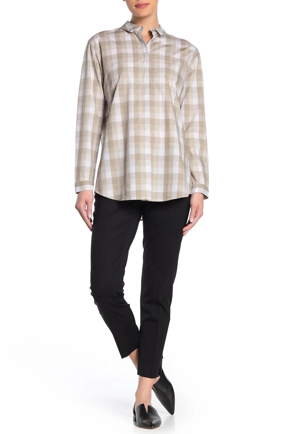 lafayette 148 new york size zip cropped wool blend pants nordstrom rack
