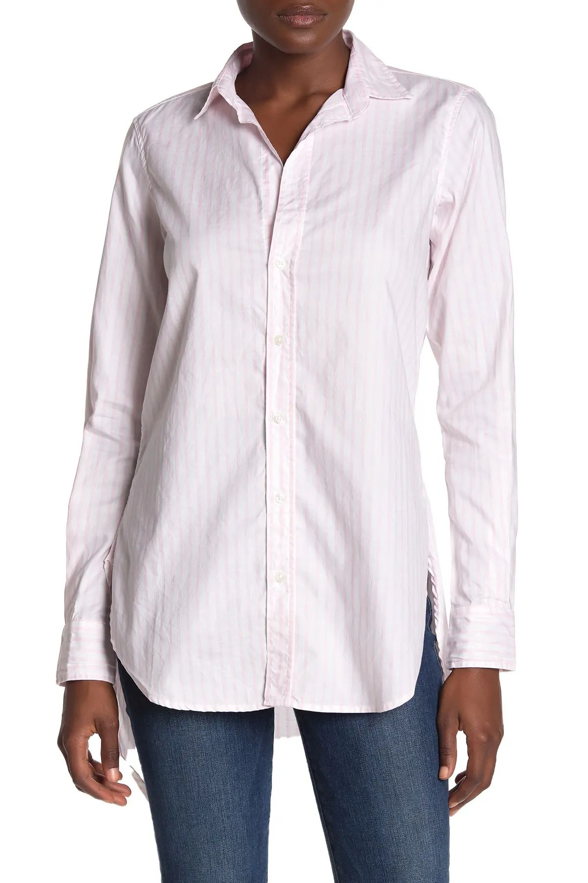frank eileen grayson relaxed fit long sleeve button front shirt nordstrom rack