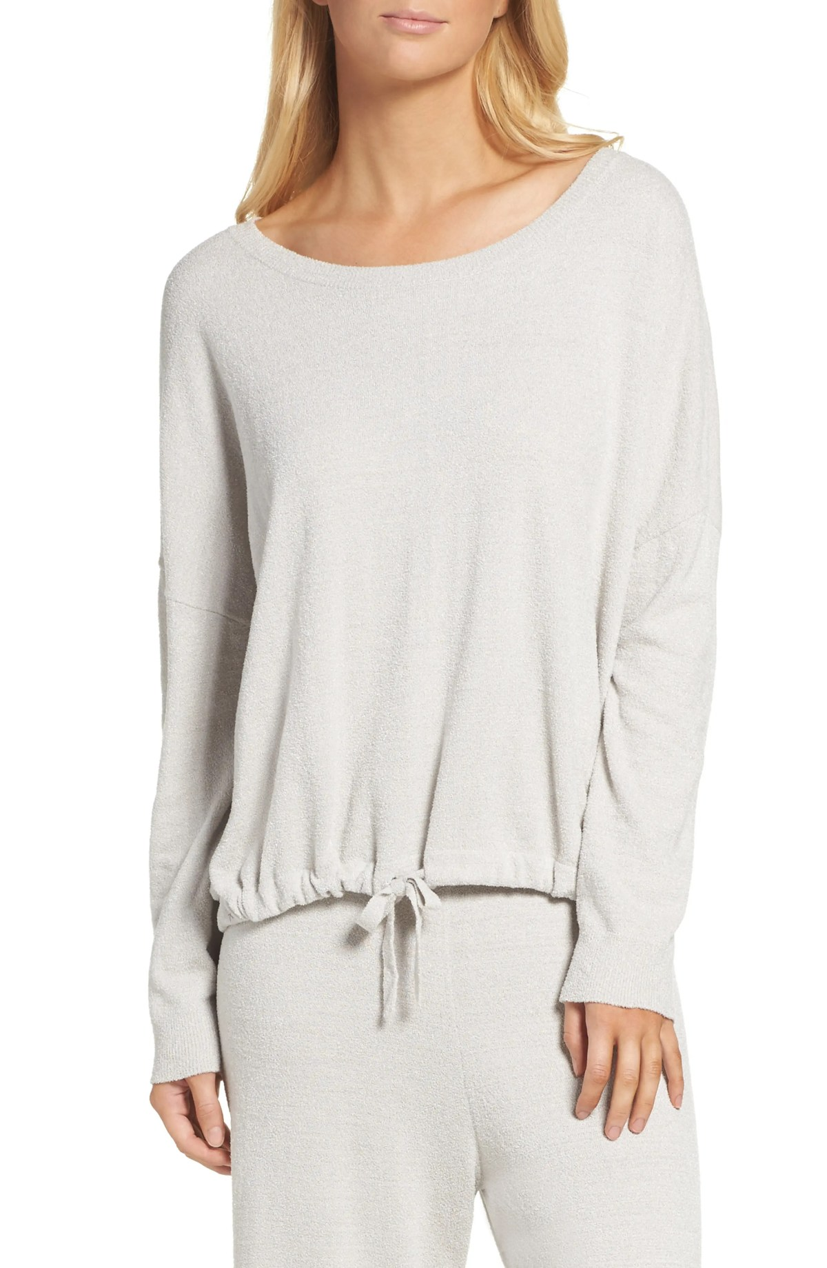 BAREFOOT DREAMS<SUP>®</SUP> Cozychic Ultra Lite<sup>®</sup> Lounge Pullover, Main, color, FOG GRAY
