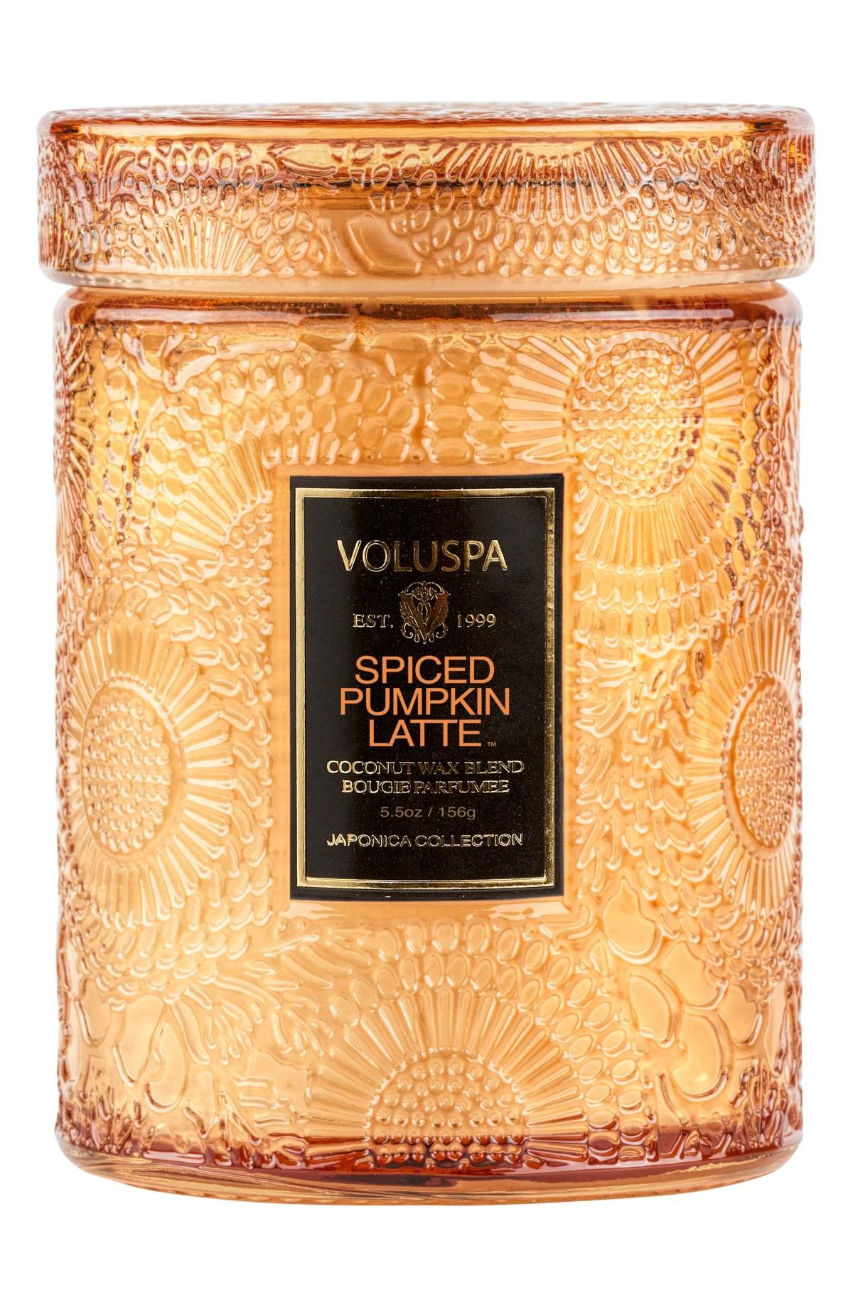 VOLUSPA Spiced Pumpkin Latte Mini Jar Candle, Main, color, NO COLOR
