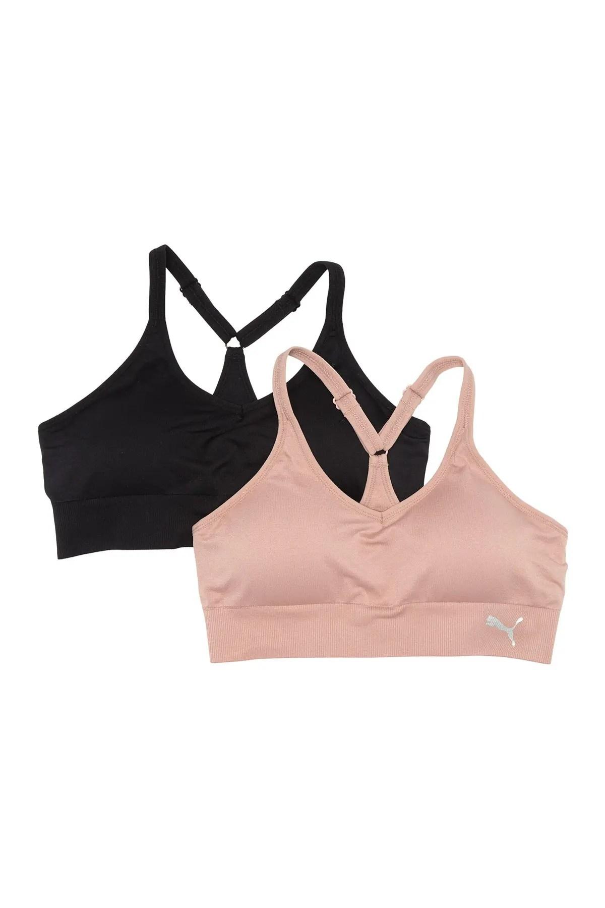 puma seamless y back sports bra pack of 2 nordstrom rack