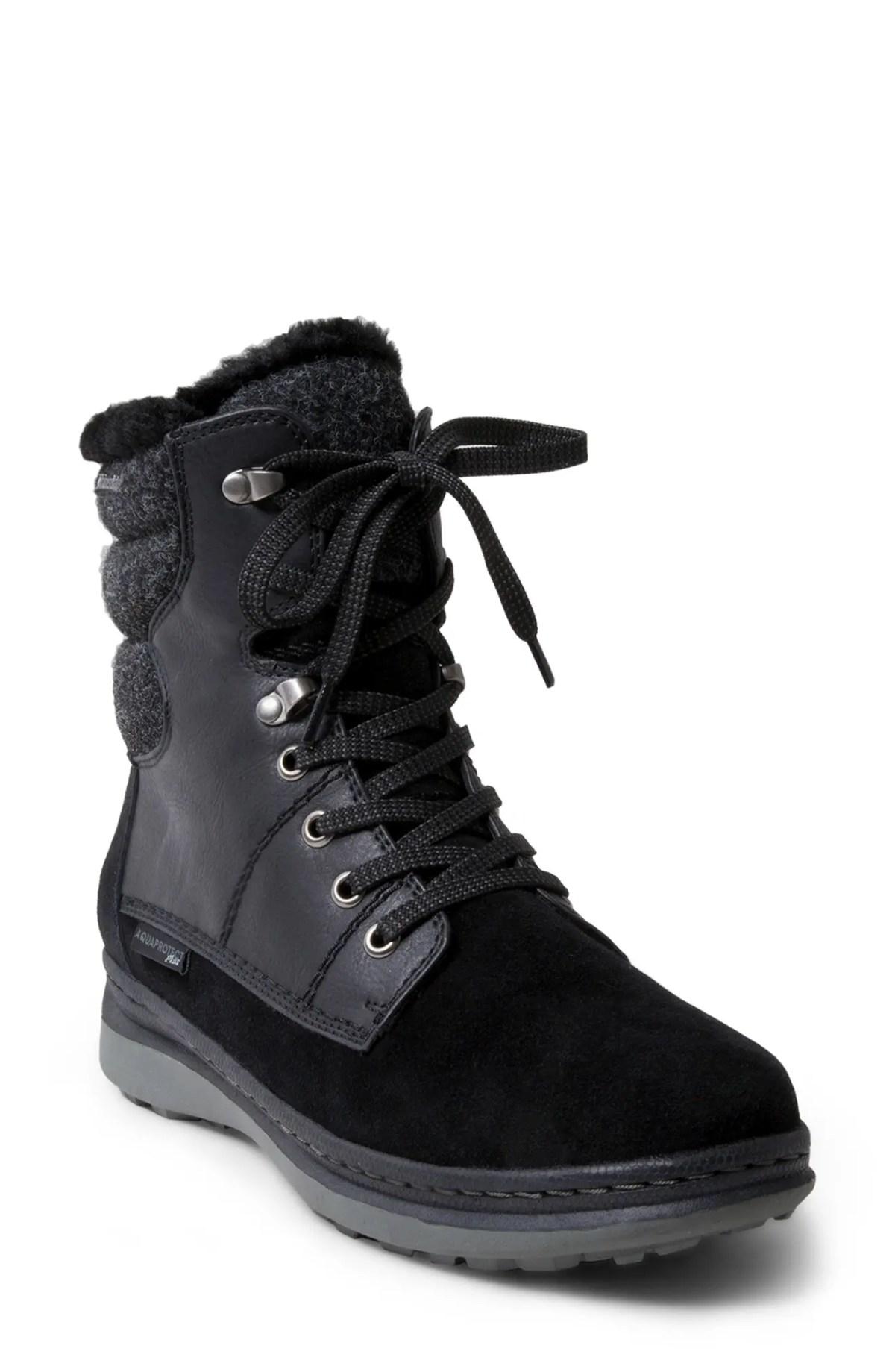 BLONDO Iselles Waterproof Hiking Boot, Main, color, BLACK WATERPROOF SUEDE