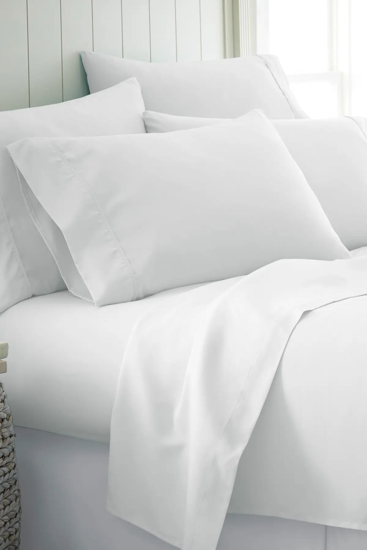 ienjoy home queen hotel collection premium ultra soft 6 piece bed sheet set white nordstrom rack